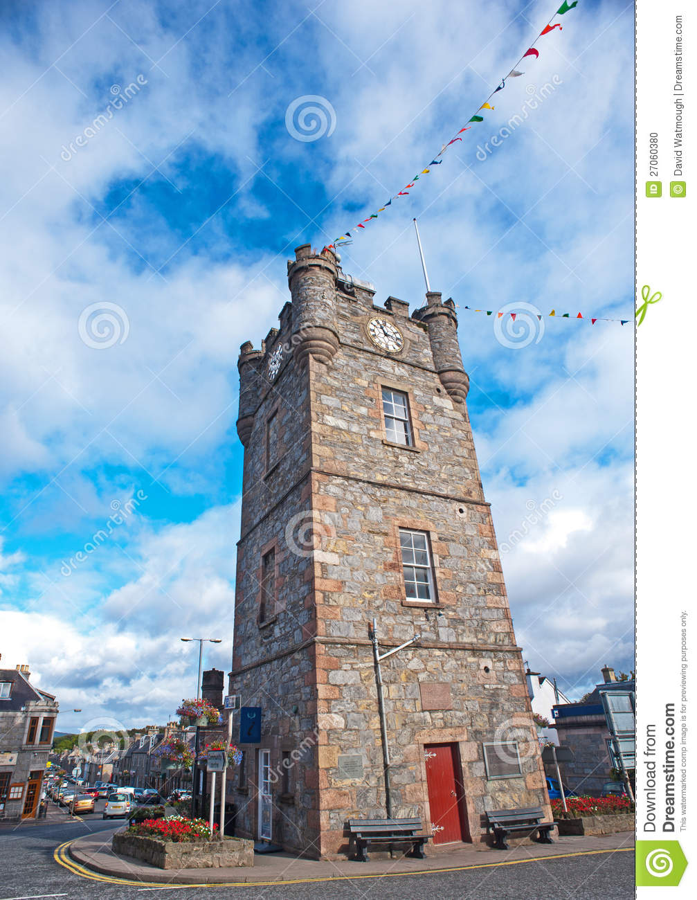 Clock tower in Dufftown, Scotland