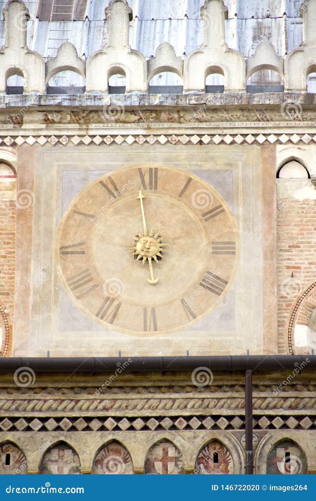 Ancient clock in Padua