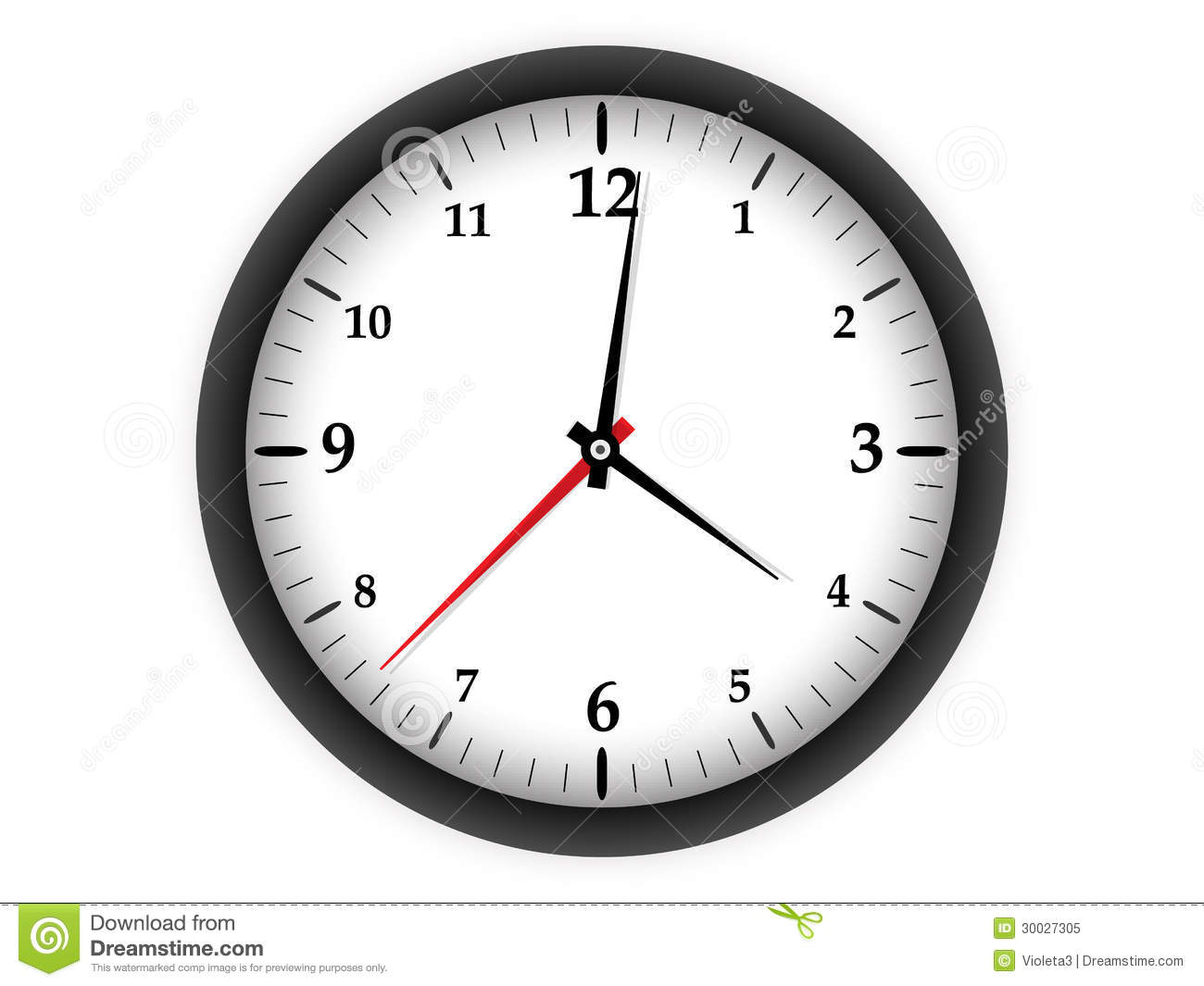 Download Clock on white background stock vector. Illustration of clock - 30027305