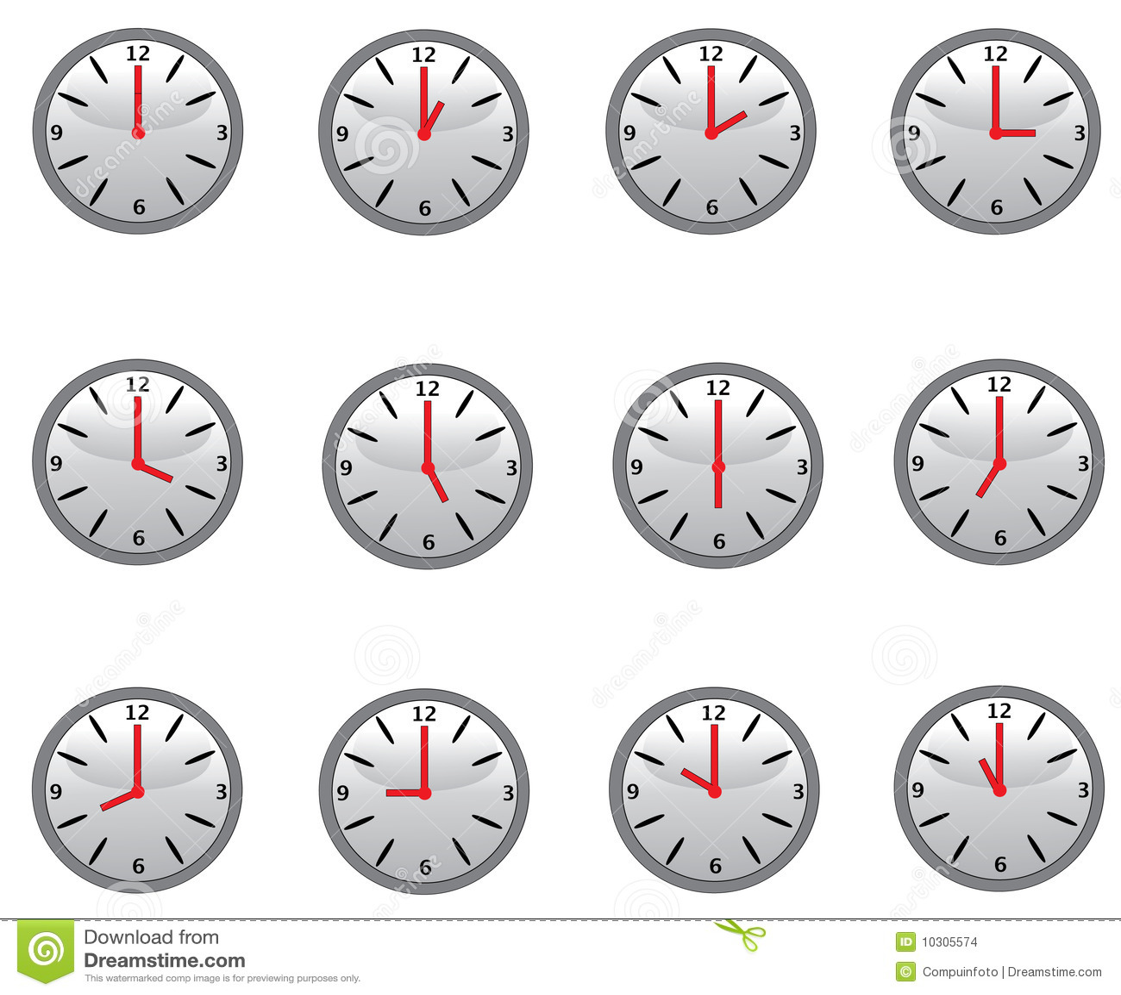 Clocks Stock Images Image 10305574