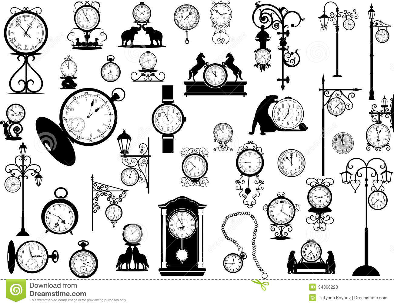 clipart of watches and clocks - photo #8