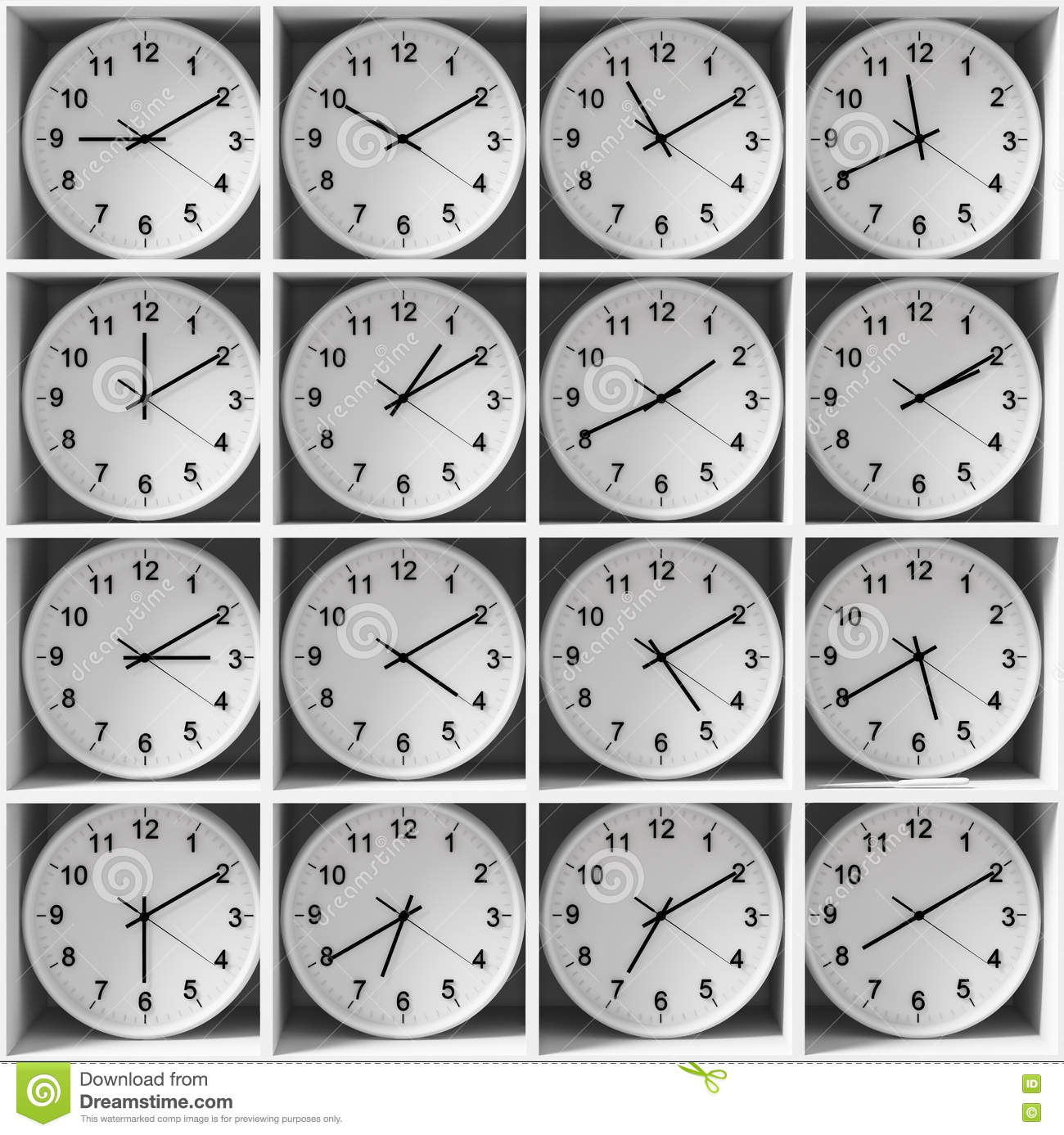 how to read differnt zones times in a watch