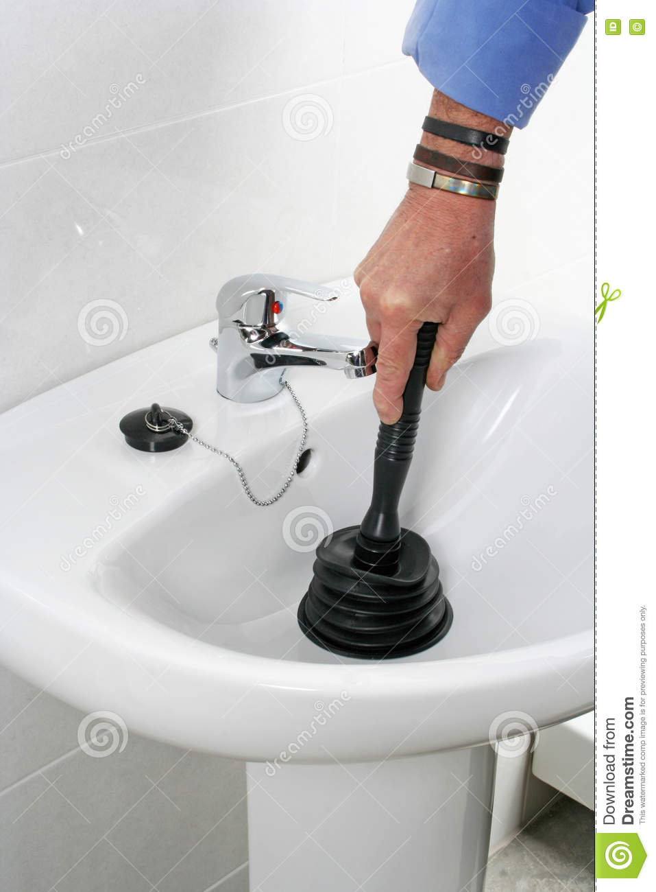Clogged Sink Stock Photo Image Of Blocked Domestic 73676624