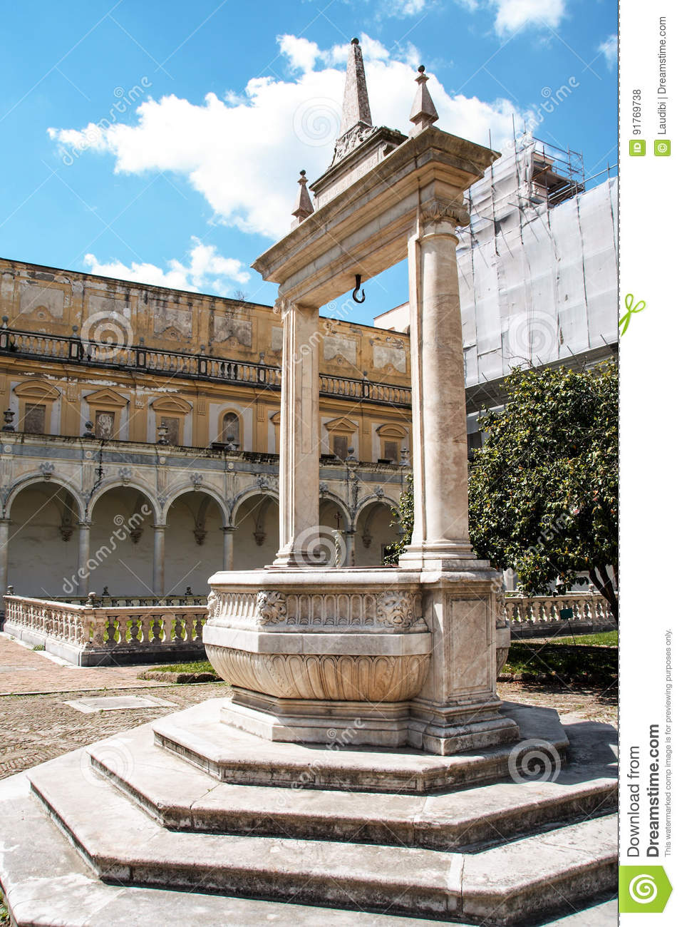 The Cloister Of San Martino Chartreuse In Naples Stock Photo Image Of Europe Baroque 91769738