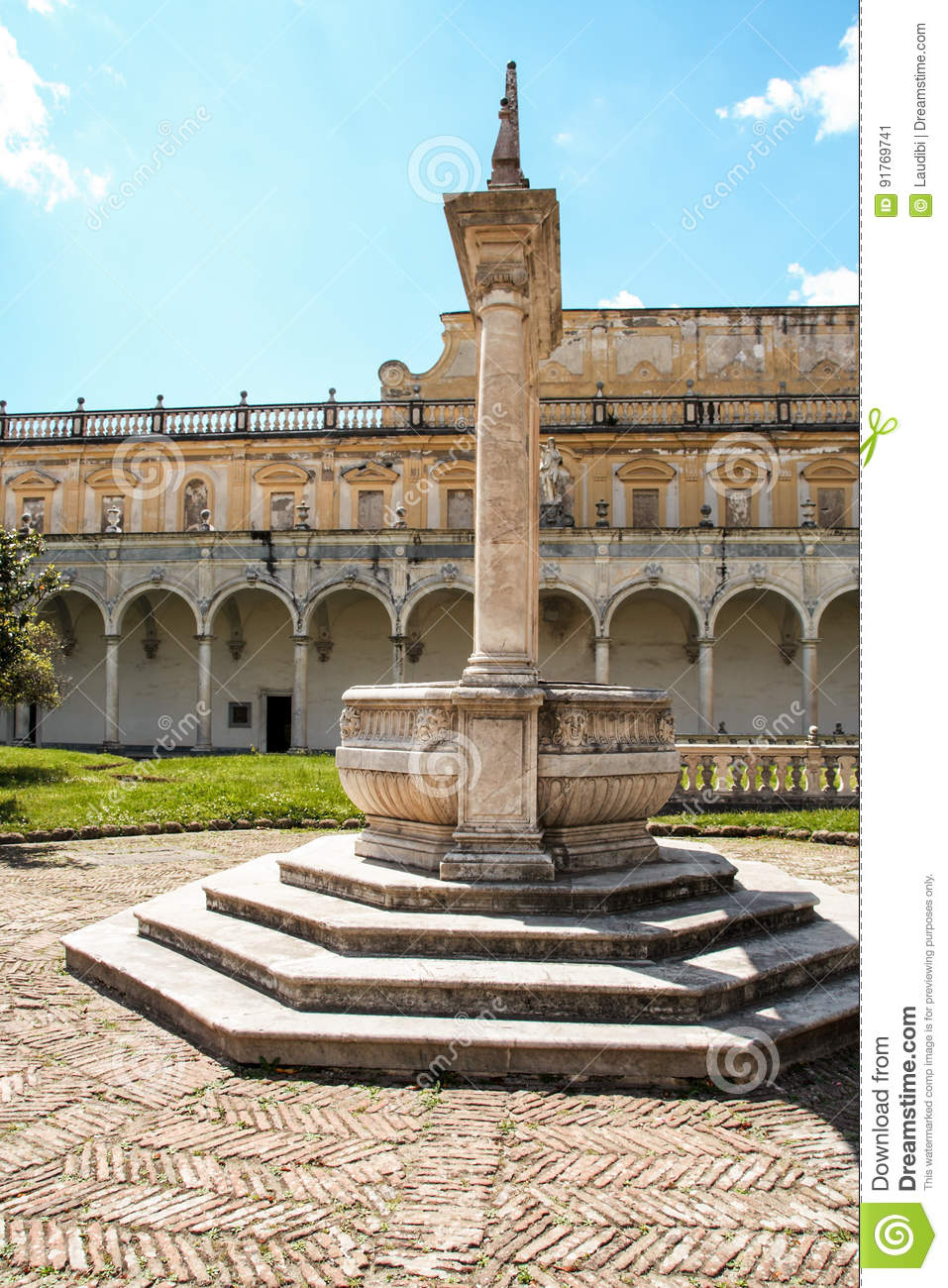 The Cloister Of San Martino Chartreuse In Naples Stock Image Image Of Abbey Dead 91769741