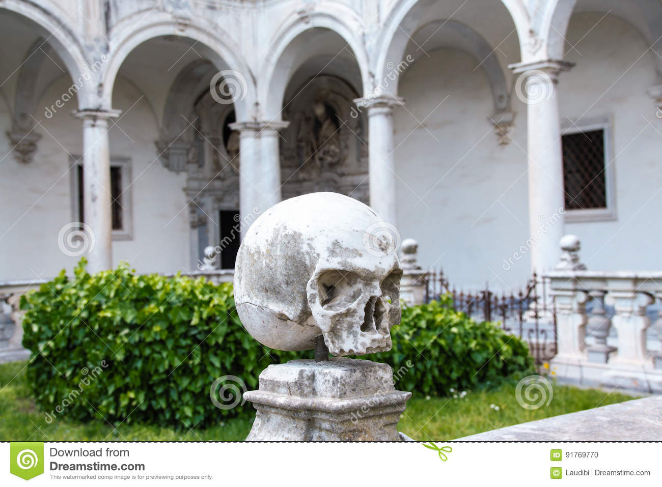The Cloister Of San Martino Chartreuse In Naples Stock Photo Image Of Martino Crown 91769770
