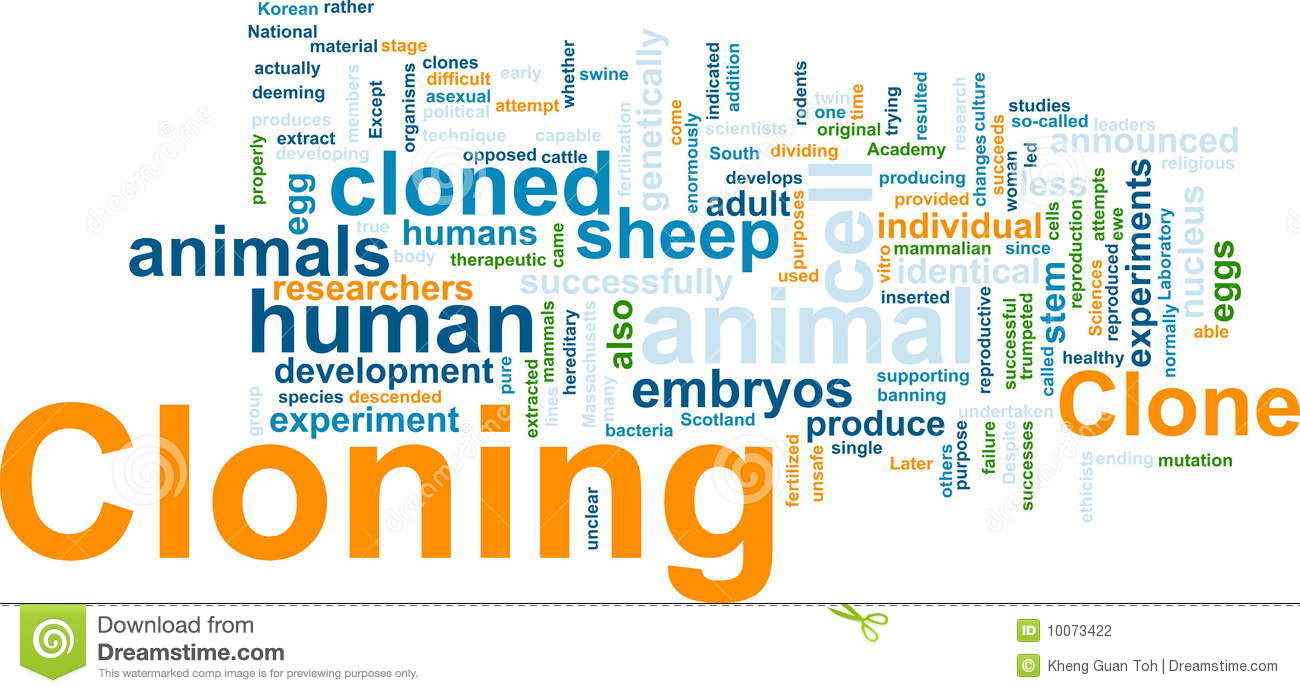 Cloning Word Cloud Stock Photography - Image: 10073422