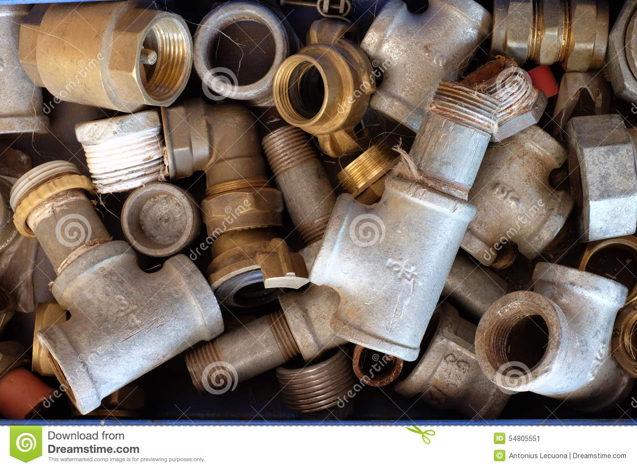 Sealing of pipes and pipe threads stock photography