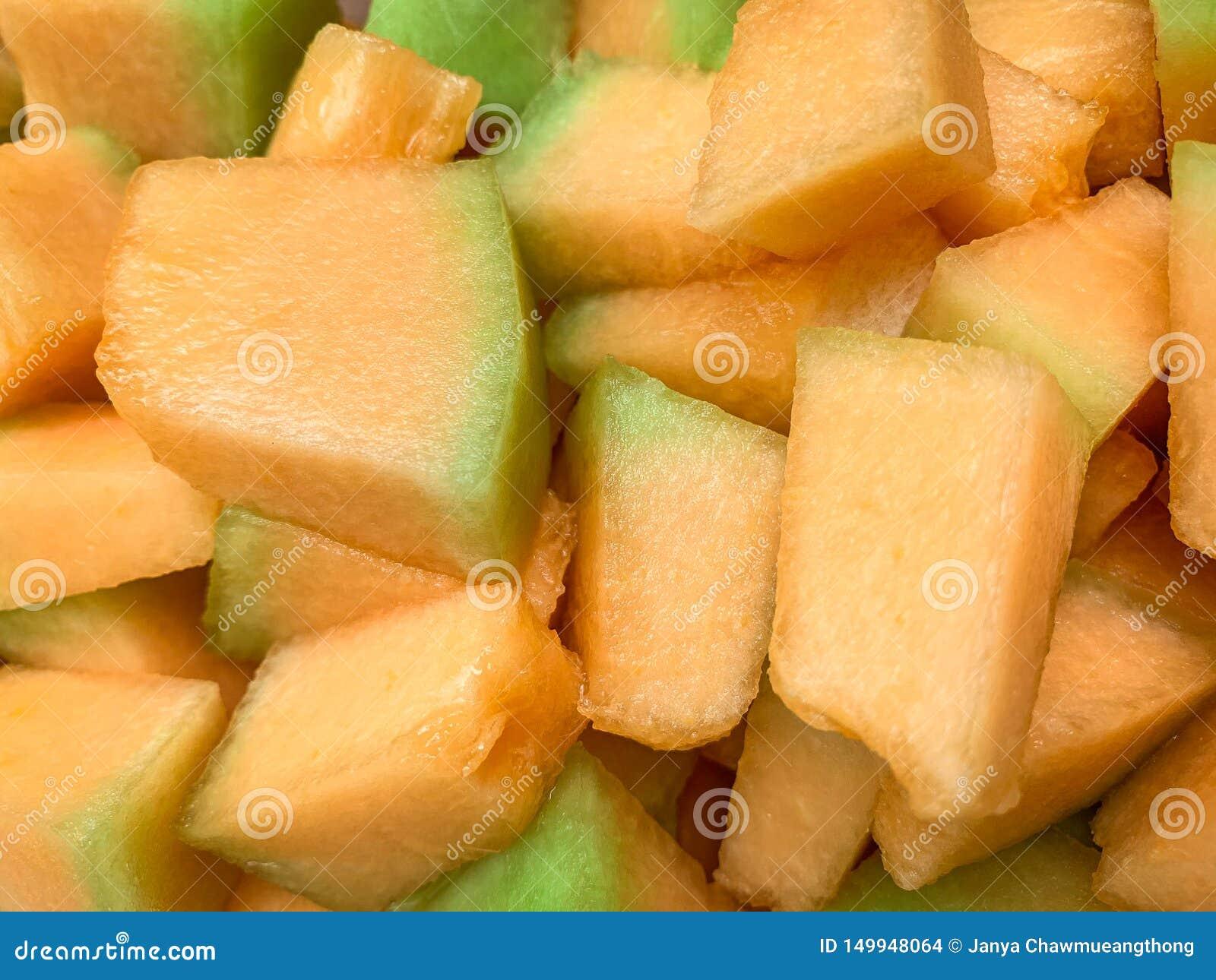 Clos w górę Złotego melonu