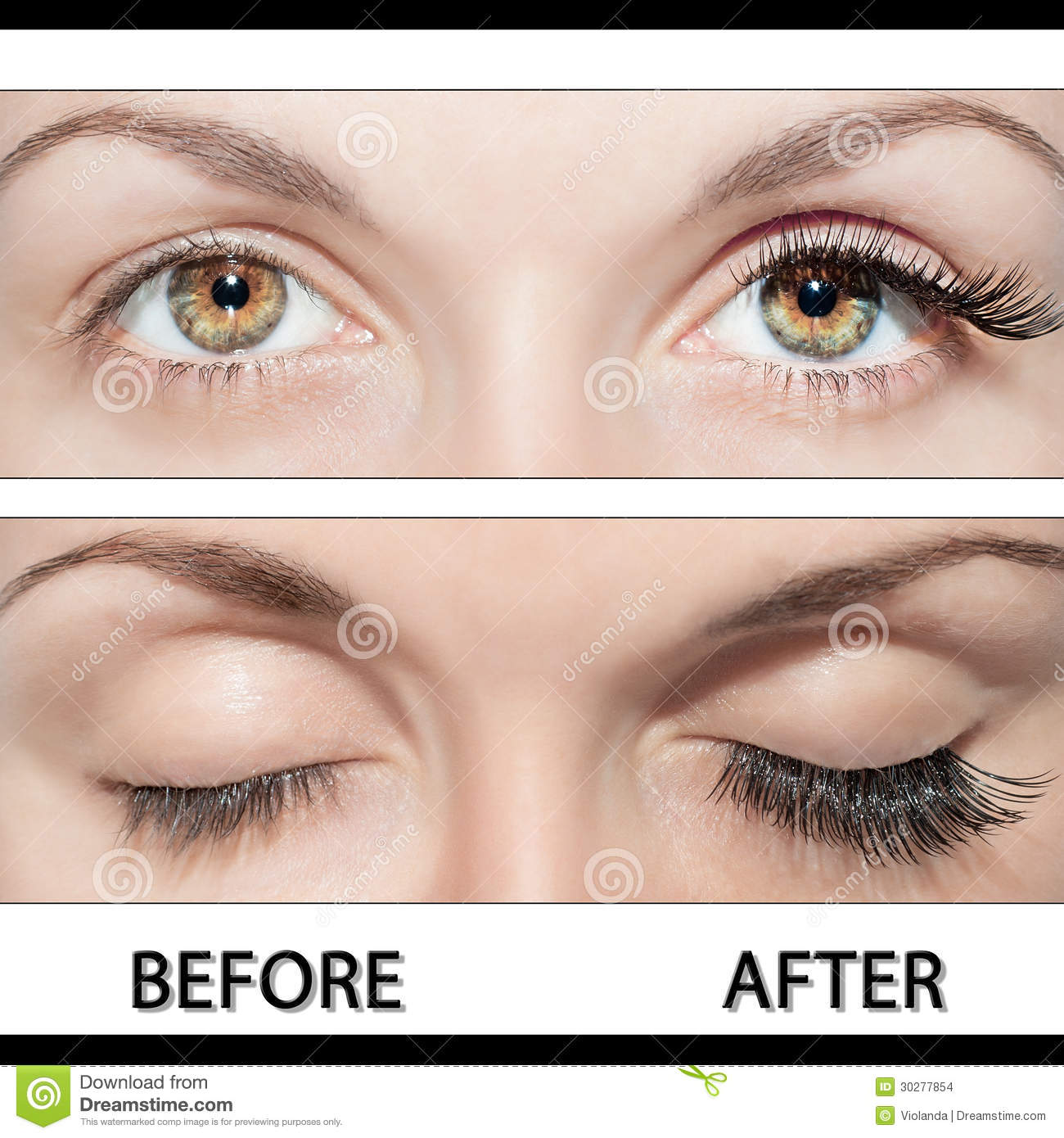 Eye And False Eyelashes Stock Photo Image Of Eyeball 30277854