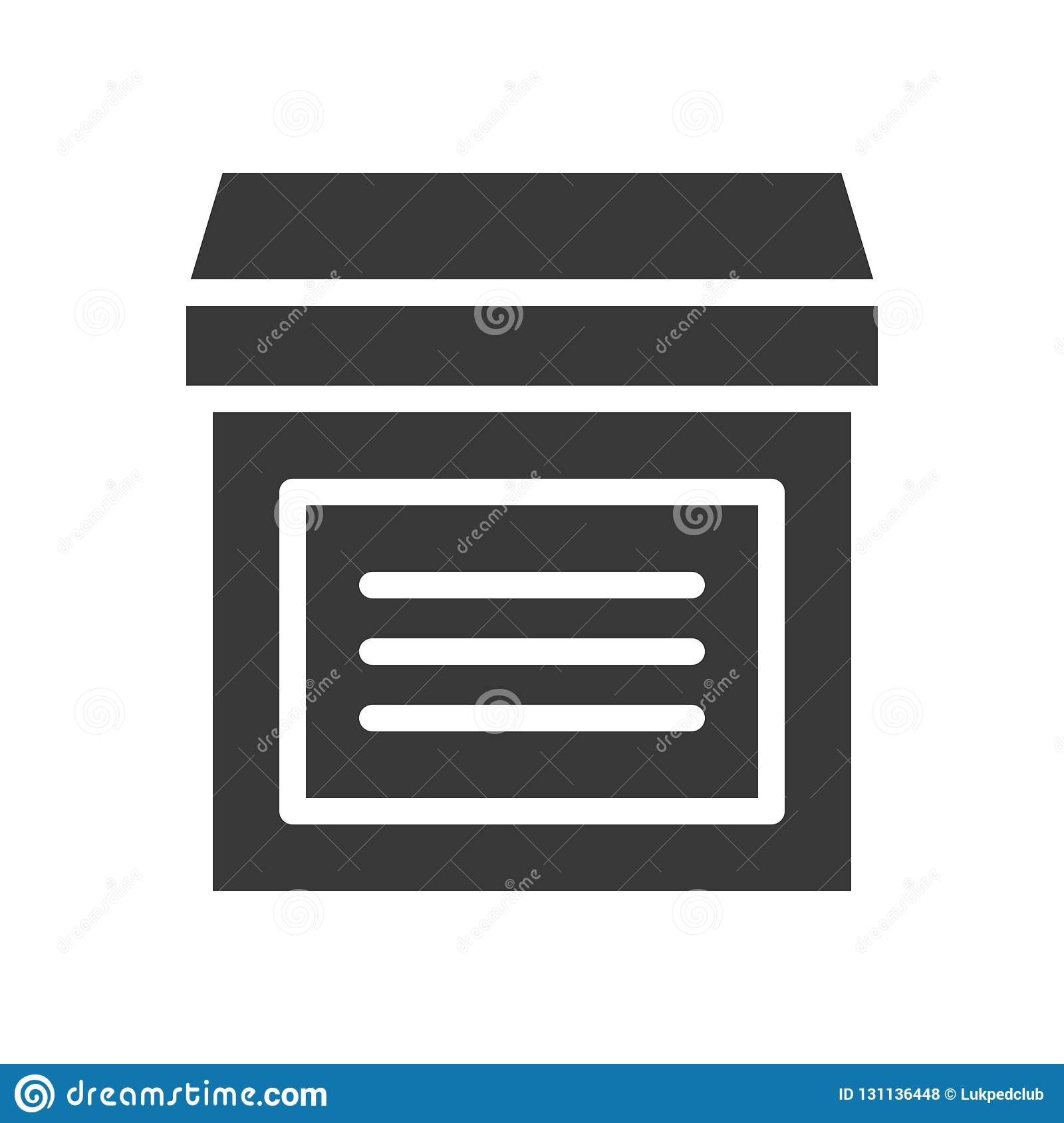 Close box, shipping and delivery concept set, glyph icon