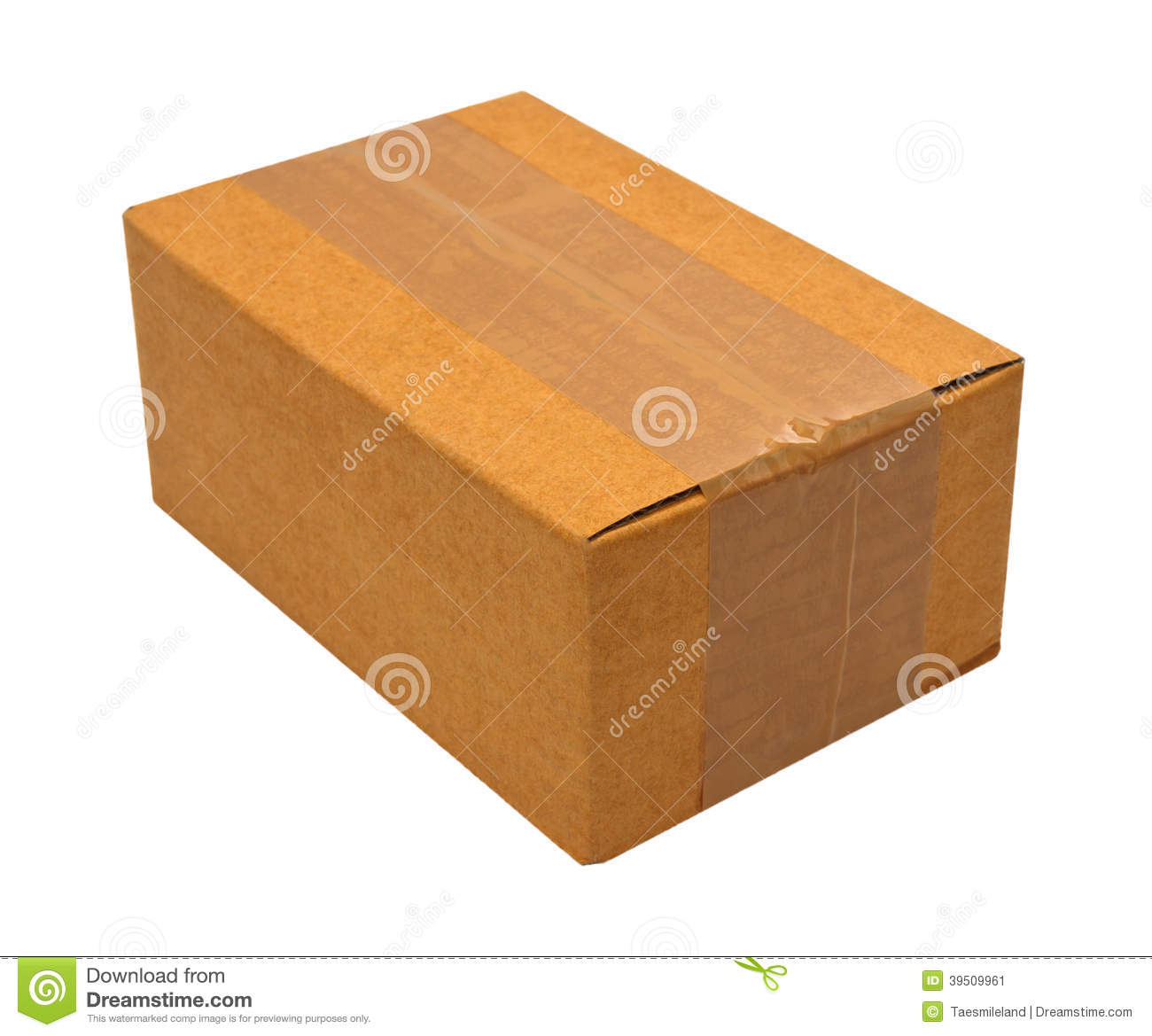Close brown paper box