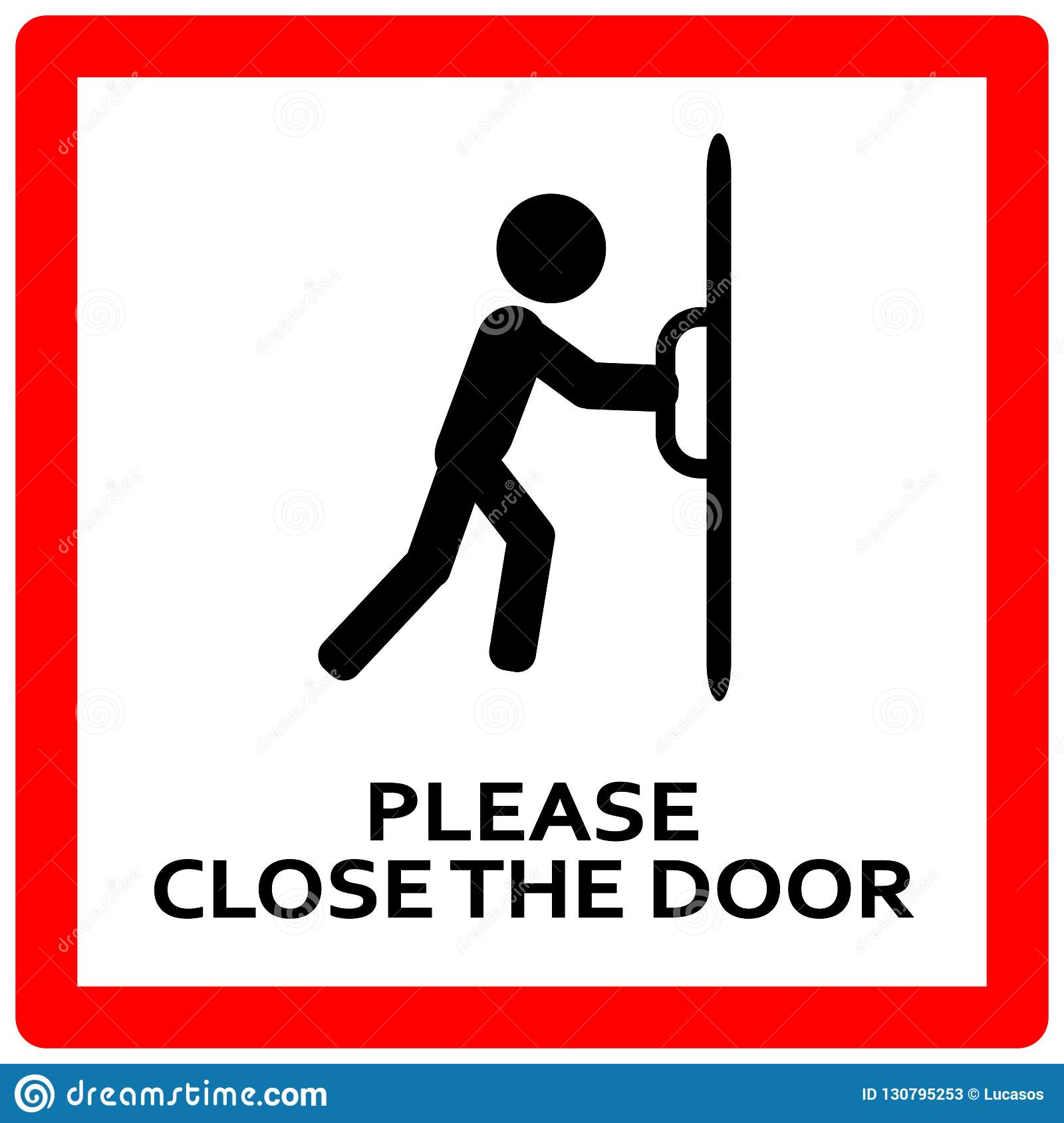 This is a picture of Nerdy Keep Door Closed Sign Printable