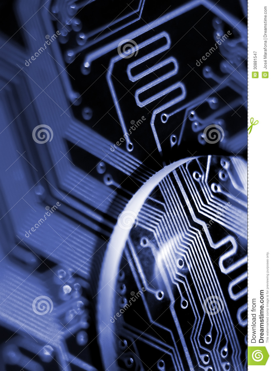 Close Inspection Stock Image Of Binary Electronic 30881547 Circuit Board Download