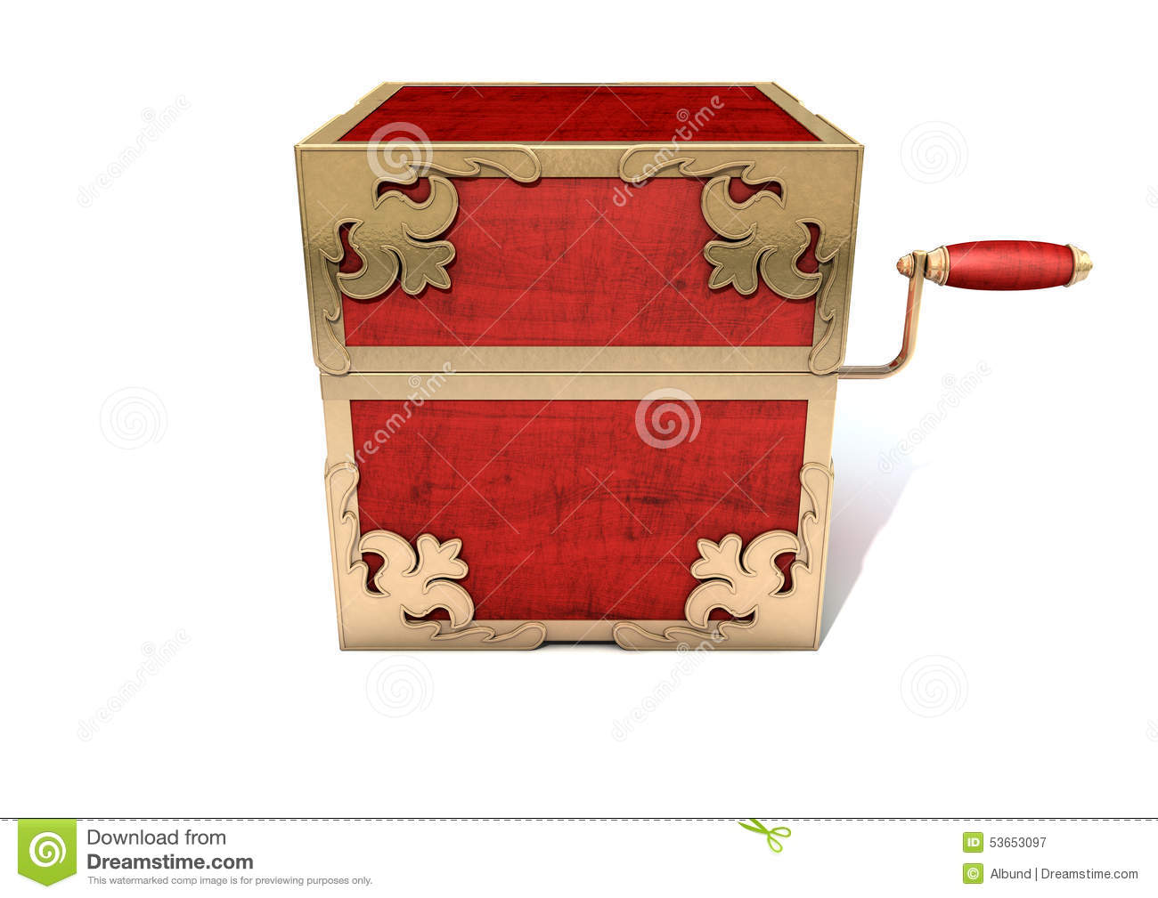 Close Jack-In-The-Box Antique Stock Illustration - Image ...