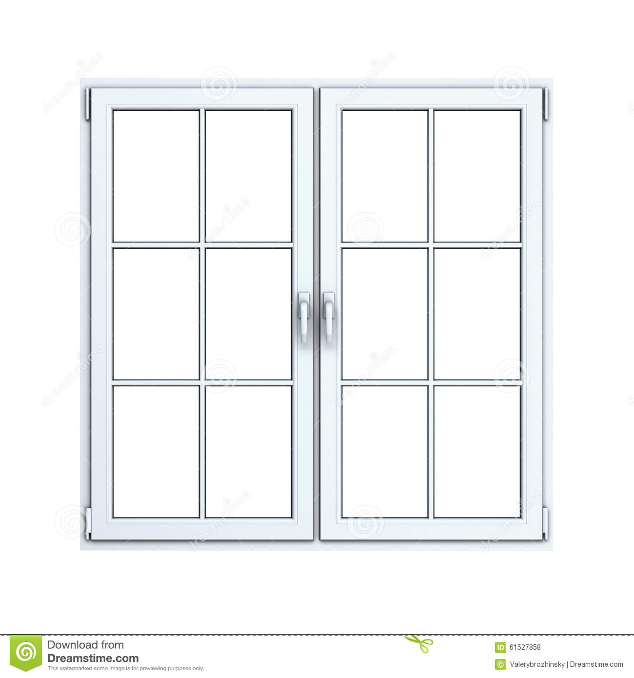Close plastic window frame stock illustration for Pvc window frame