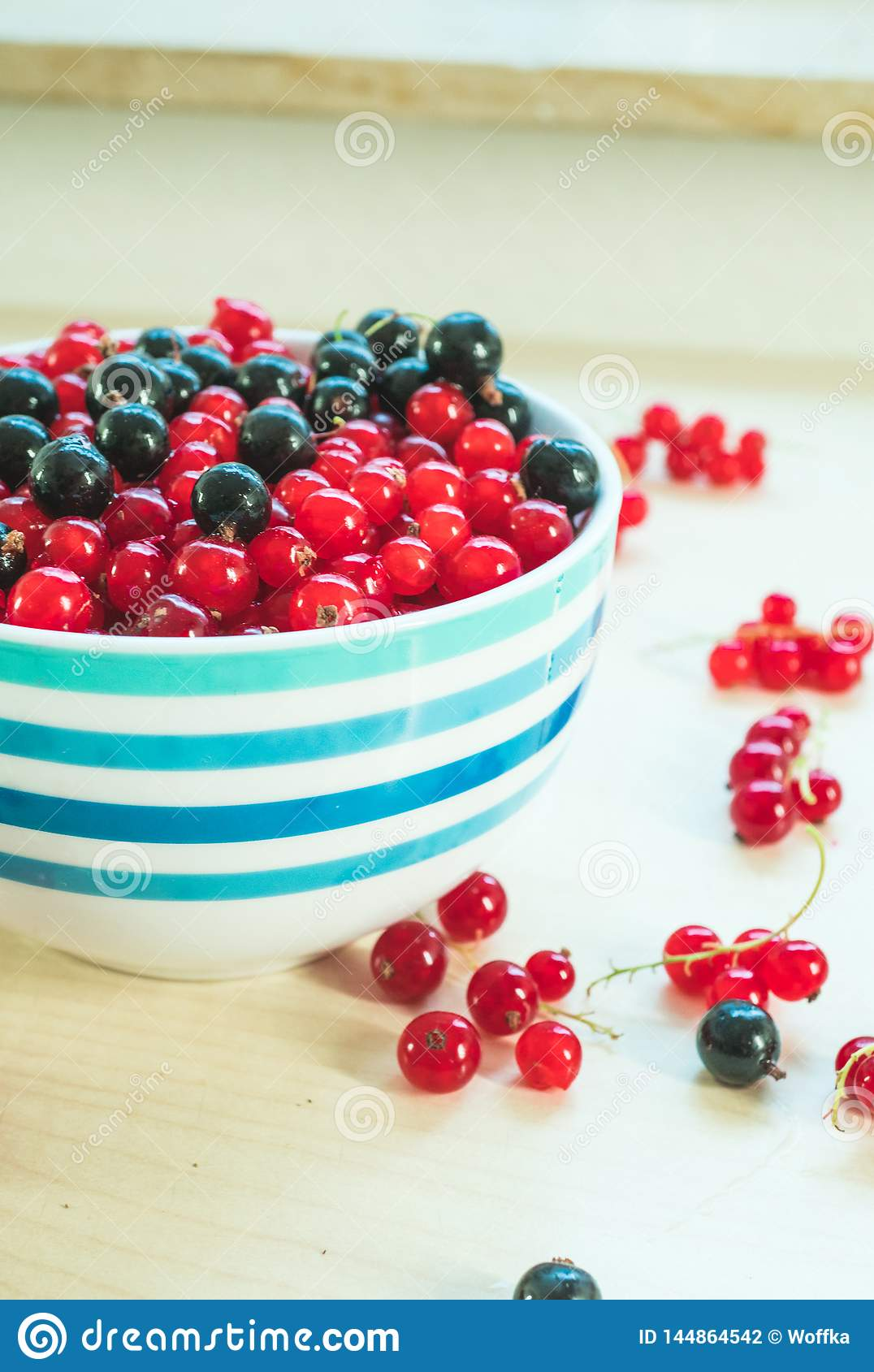 Close up shot of the table with berries