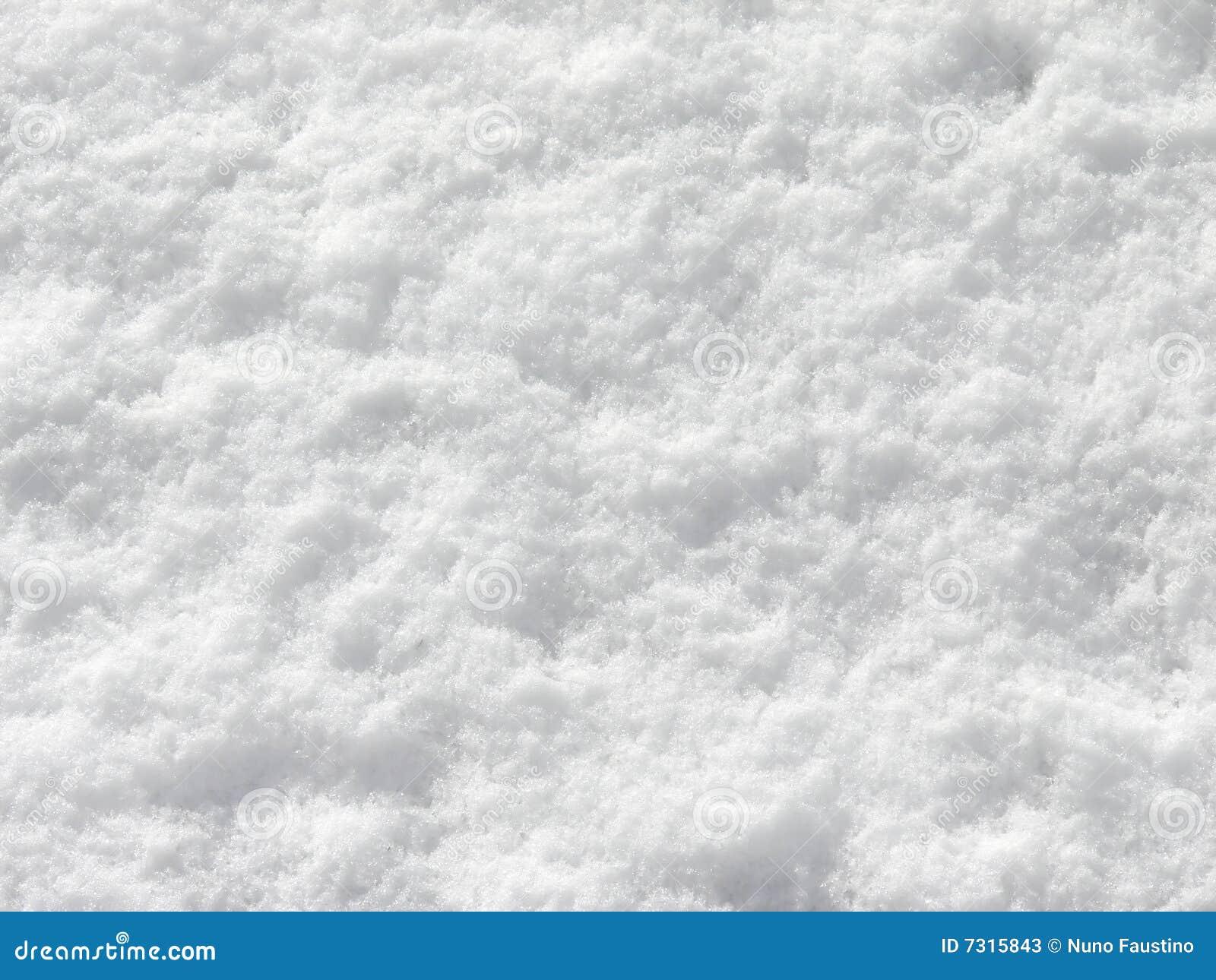 Close snow texture up white