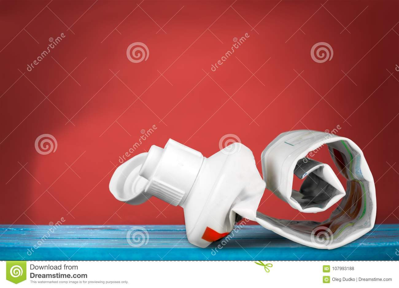 Tube Of Toothpaste Close Up On Background Stock Photo Image Of