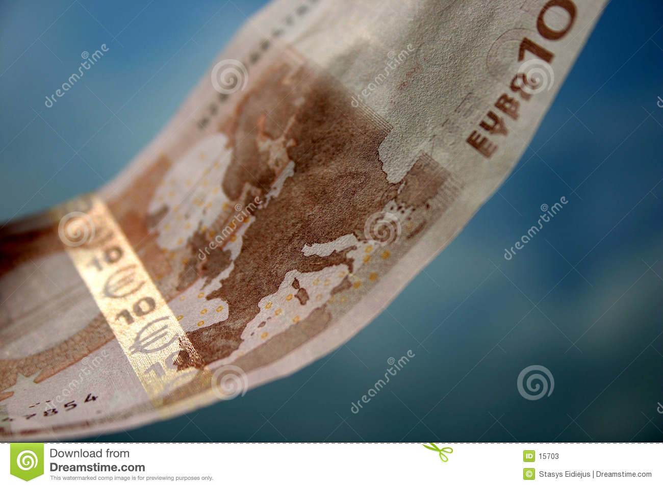 The close-up of 10 Euros