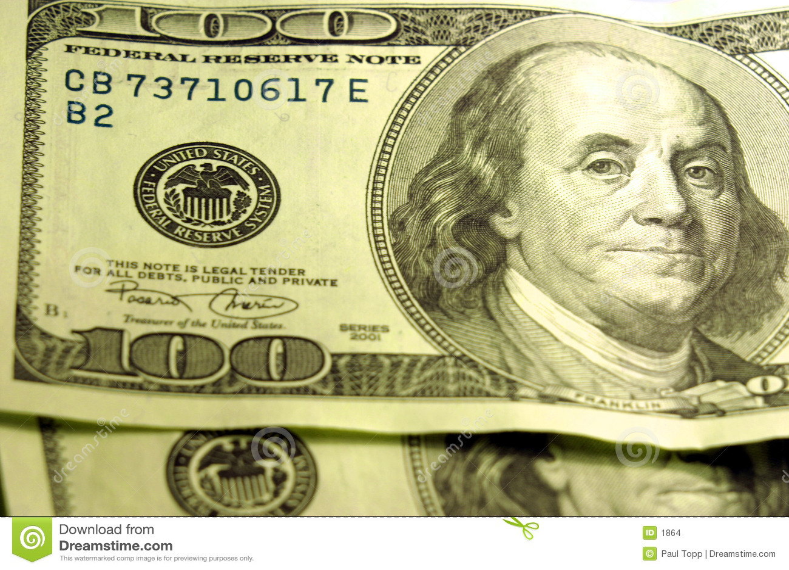 Close-up of $100 Bills