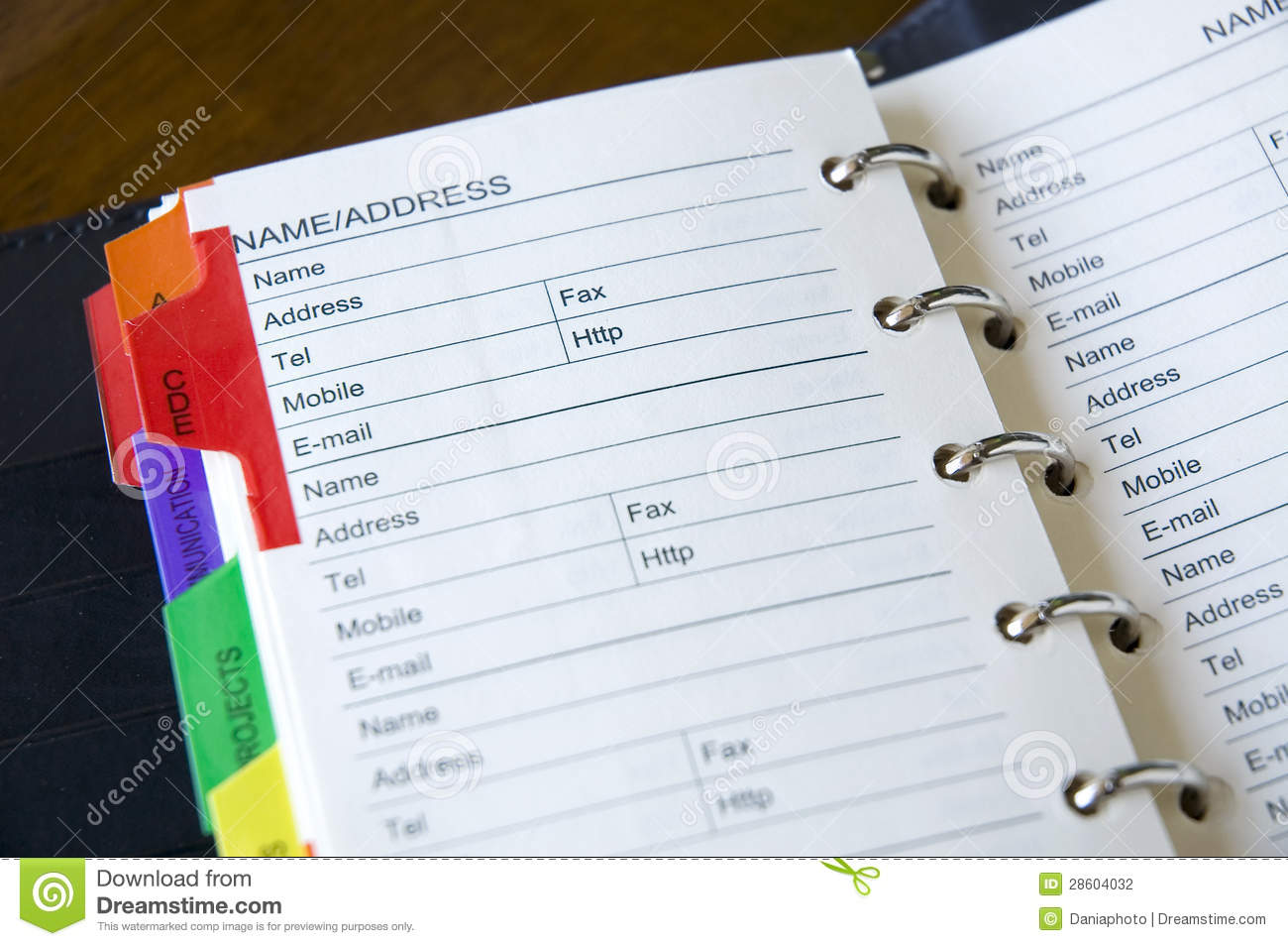 close up address book stock photo image of communication 28604032