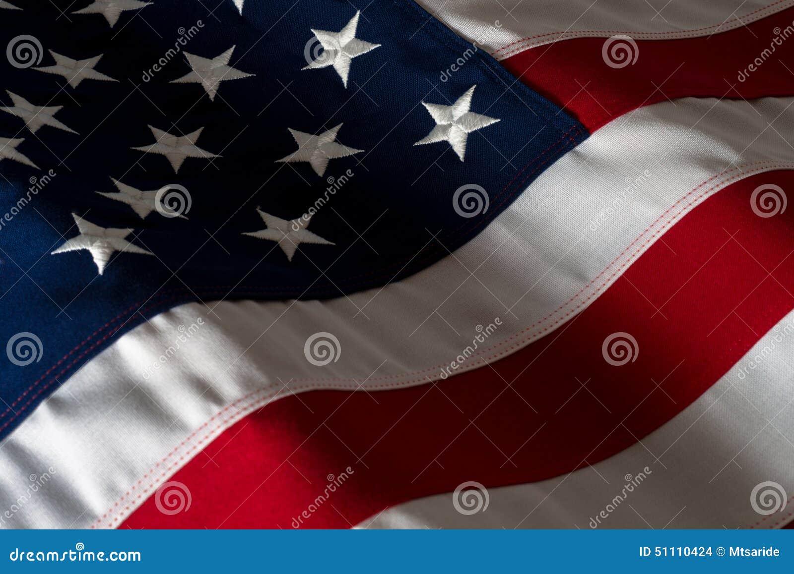 Close Up American Flag