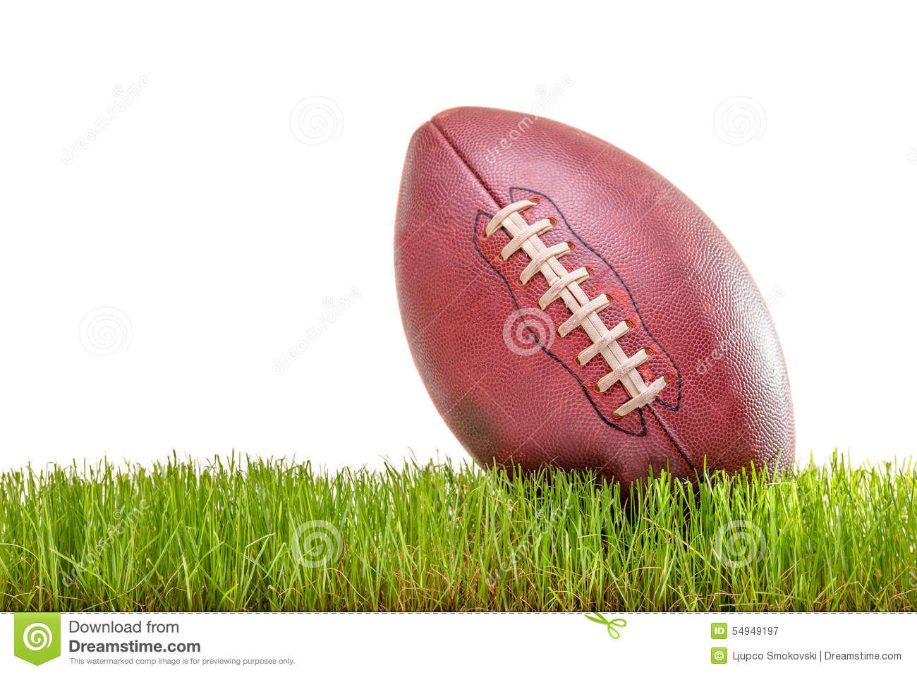 Close-up on an American football