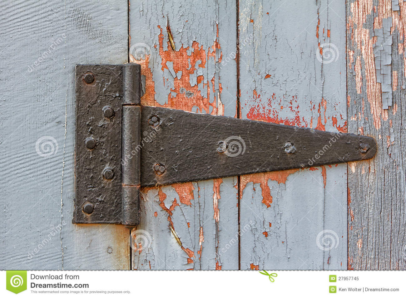 Close Up Of Antique Barn Hinge Stock Image Image 27957745