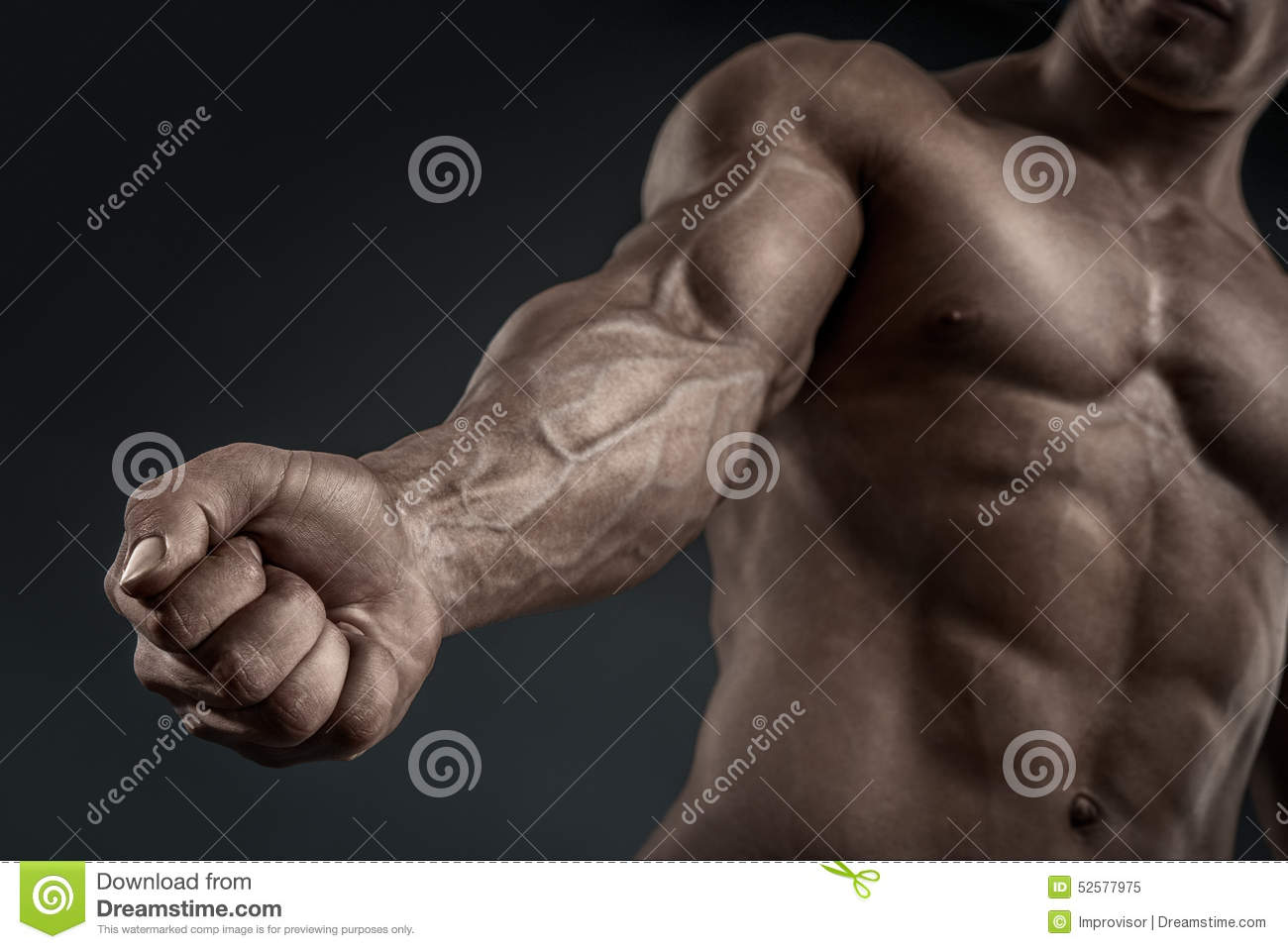 Close-up Of Athletic Muscular Arm And Torso Stock Image - Image of ...