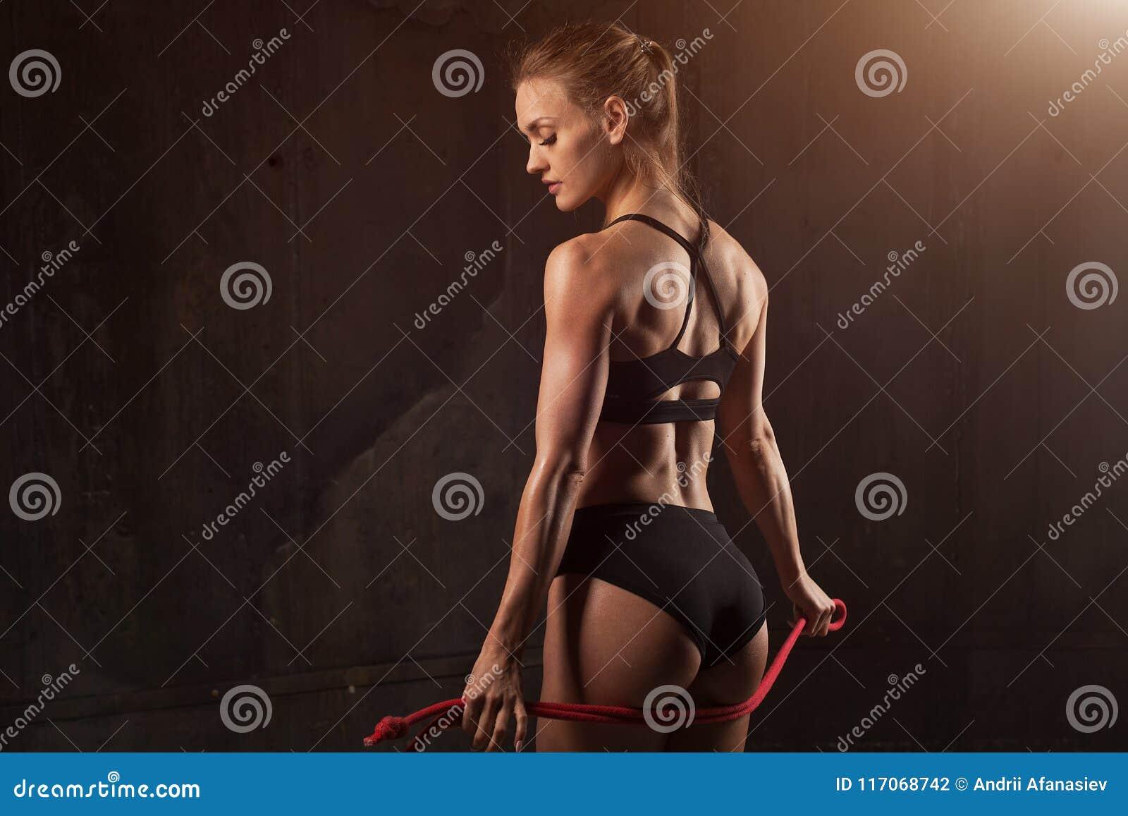 Close-up atlético bonito do burro Nádegas  sexy  da mulher perfeita na roupa interior Limpe a pele saudável Estilo de vida, dieta
