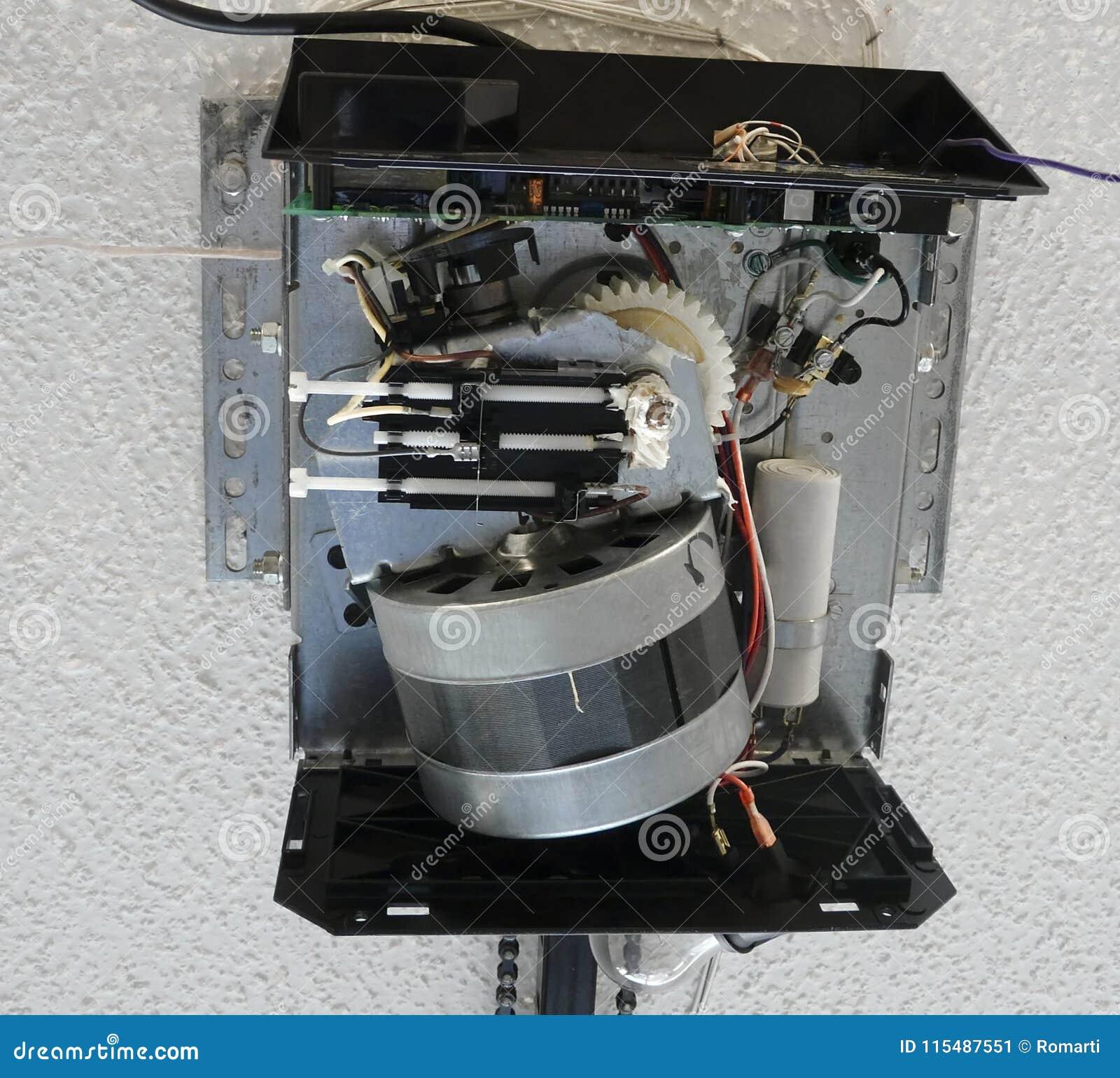 Garage Door Opener Motor Gear Drive Stock Image Image Of Drive
