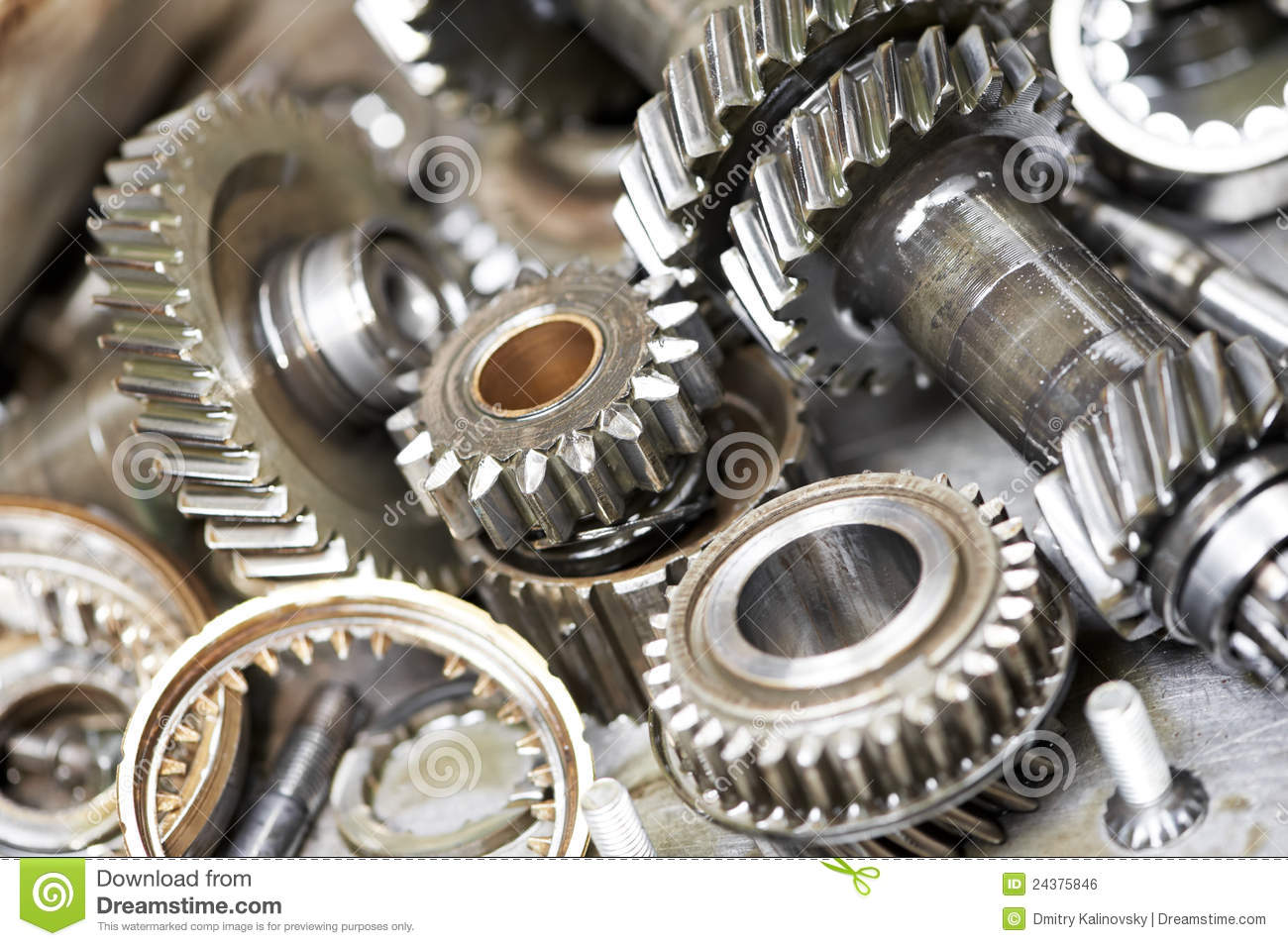 close up of automobile engine gears royalty free stock image