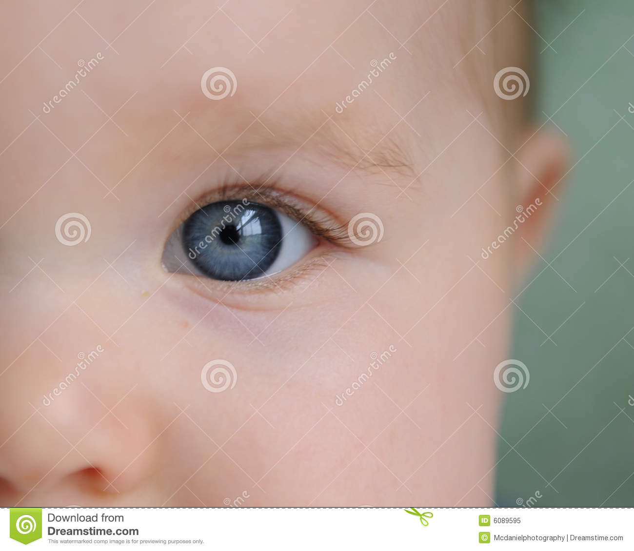 close up of babys face amp eye royalty free stock photo