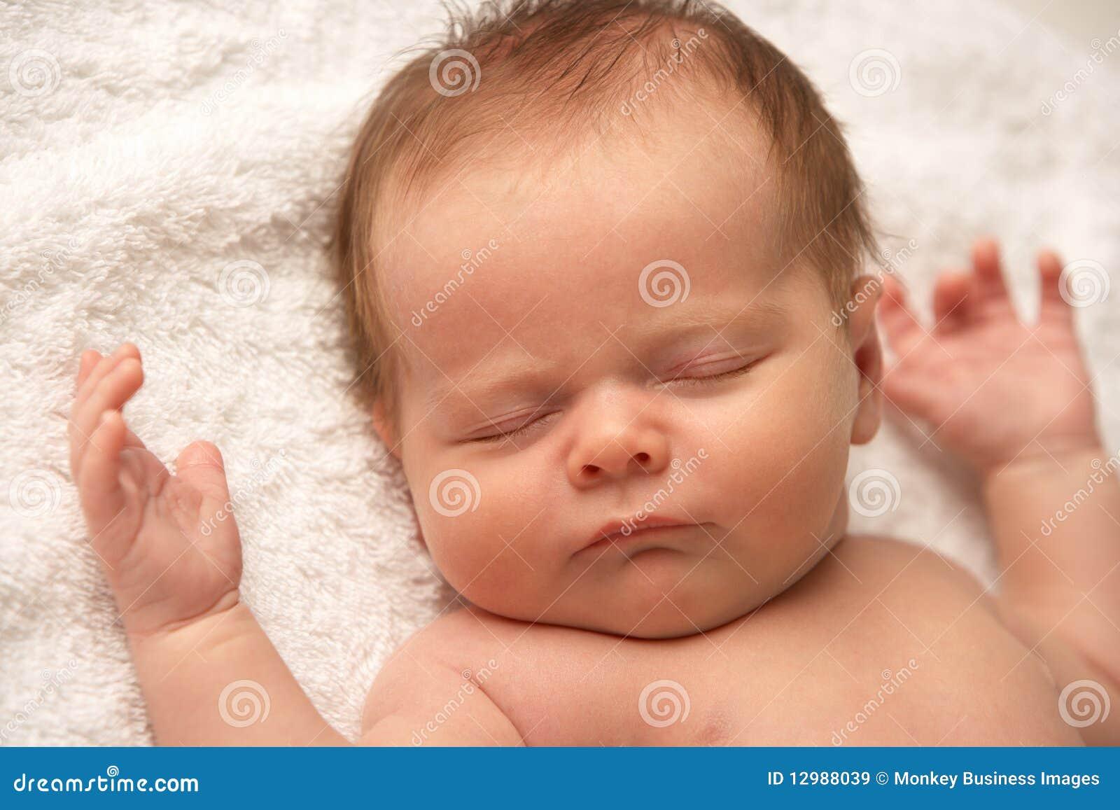 Close Up Of Baby Sleeping Stock Image Image Of Beautiful