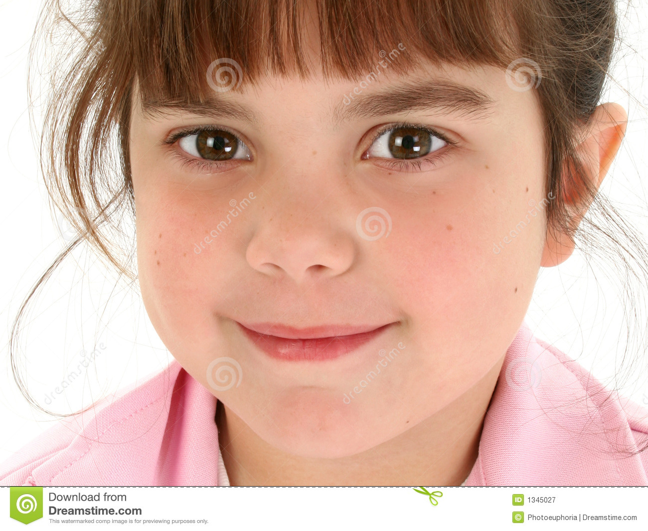 Close Up Of Beautiful Five Year Old Girl Stock Image