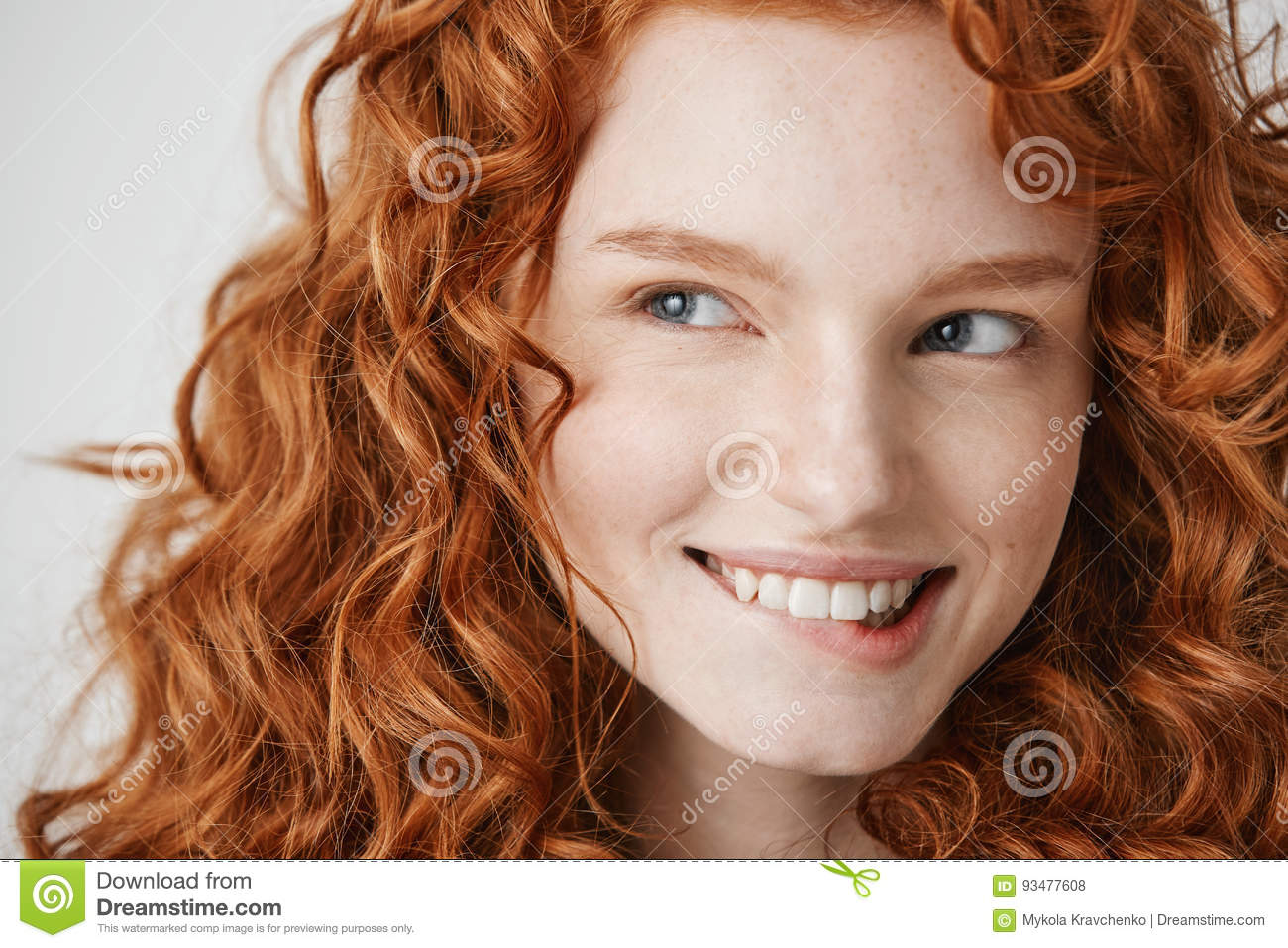 red Girl hair freckles with