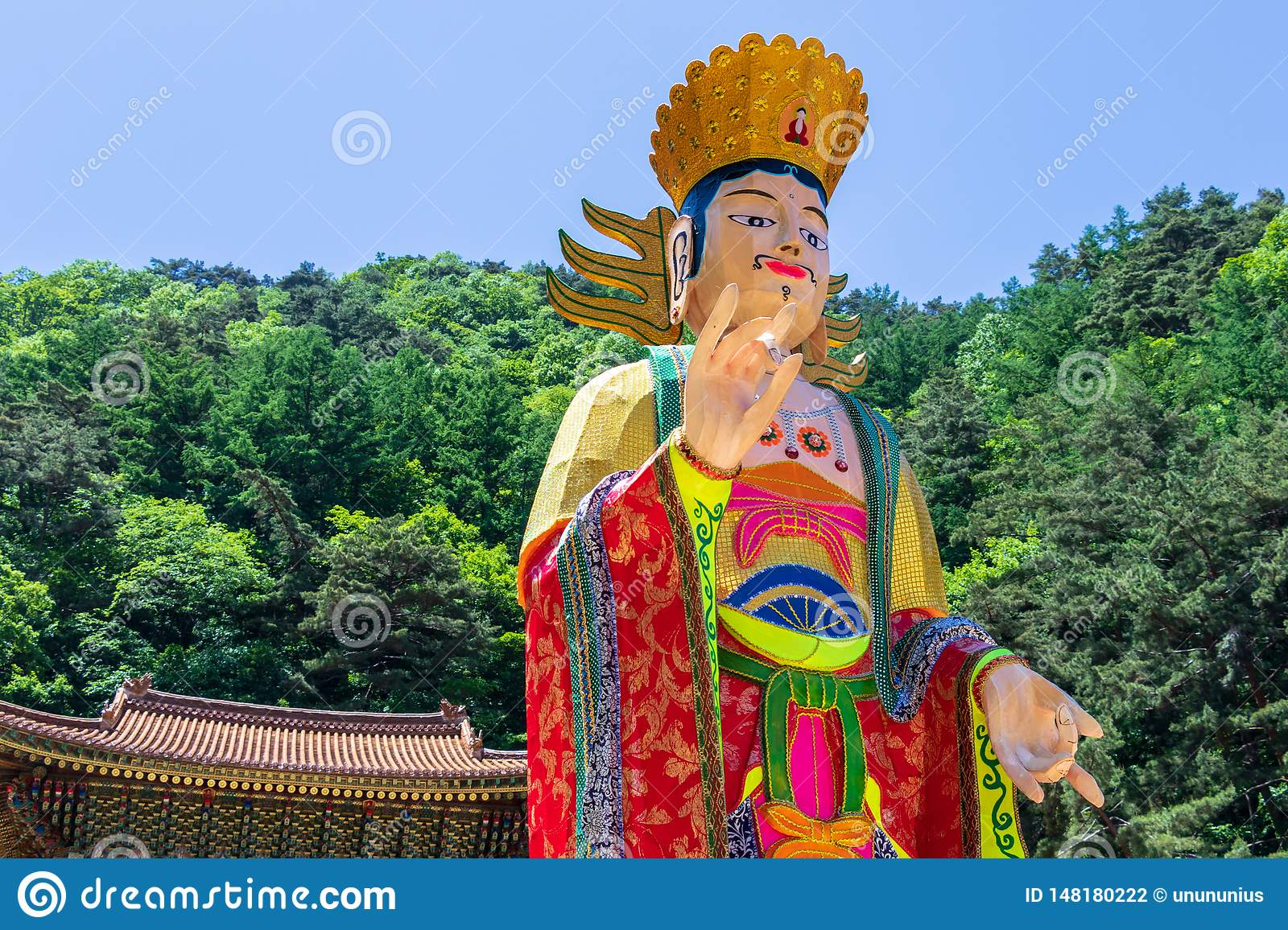 Close up of a beautiful korean and traditional paper figure for festival to celebrate Buddhas birthday. Guinsa, Danyan Region,