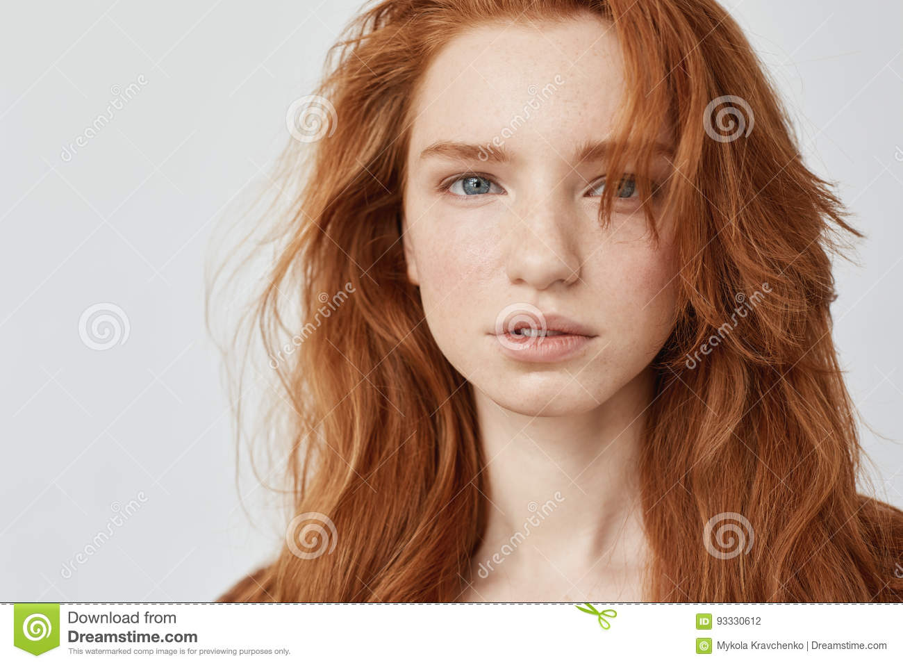 Model picture of redhead consider