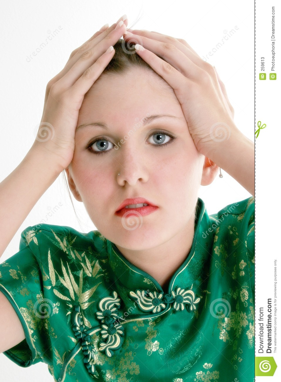 Close Up Of Beautiful Sixteen Year Old Girl Stock Image