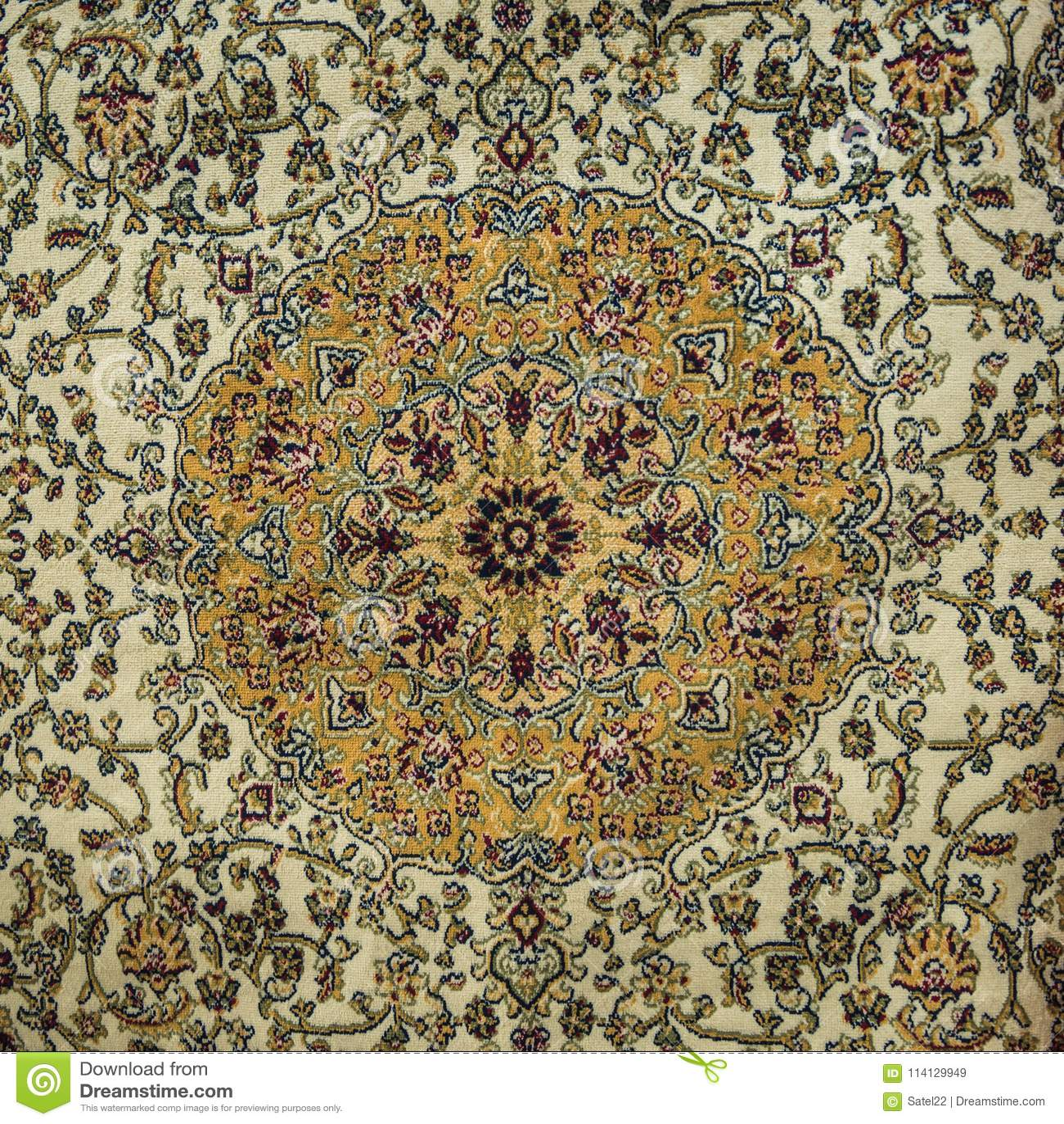 An intricate carpet design stock image. Image of elegant ...