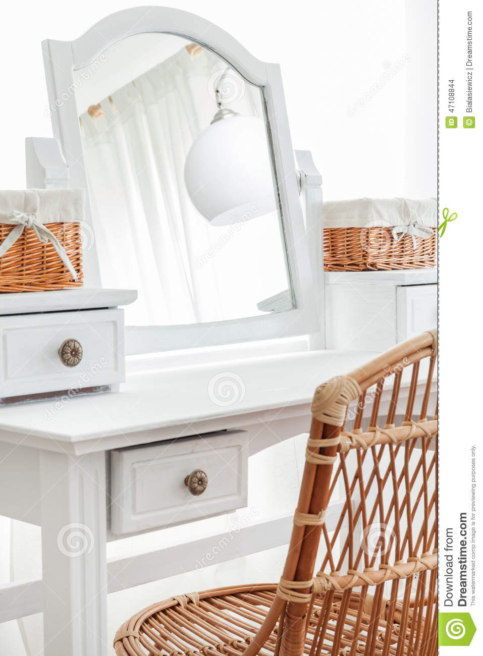 Close up of beauty dressing table stock photo image for Beauty parlour dressing table