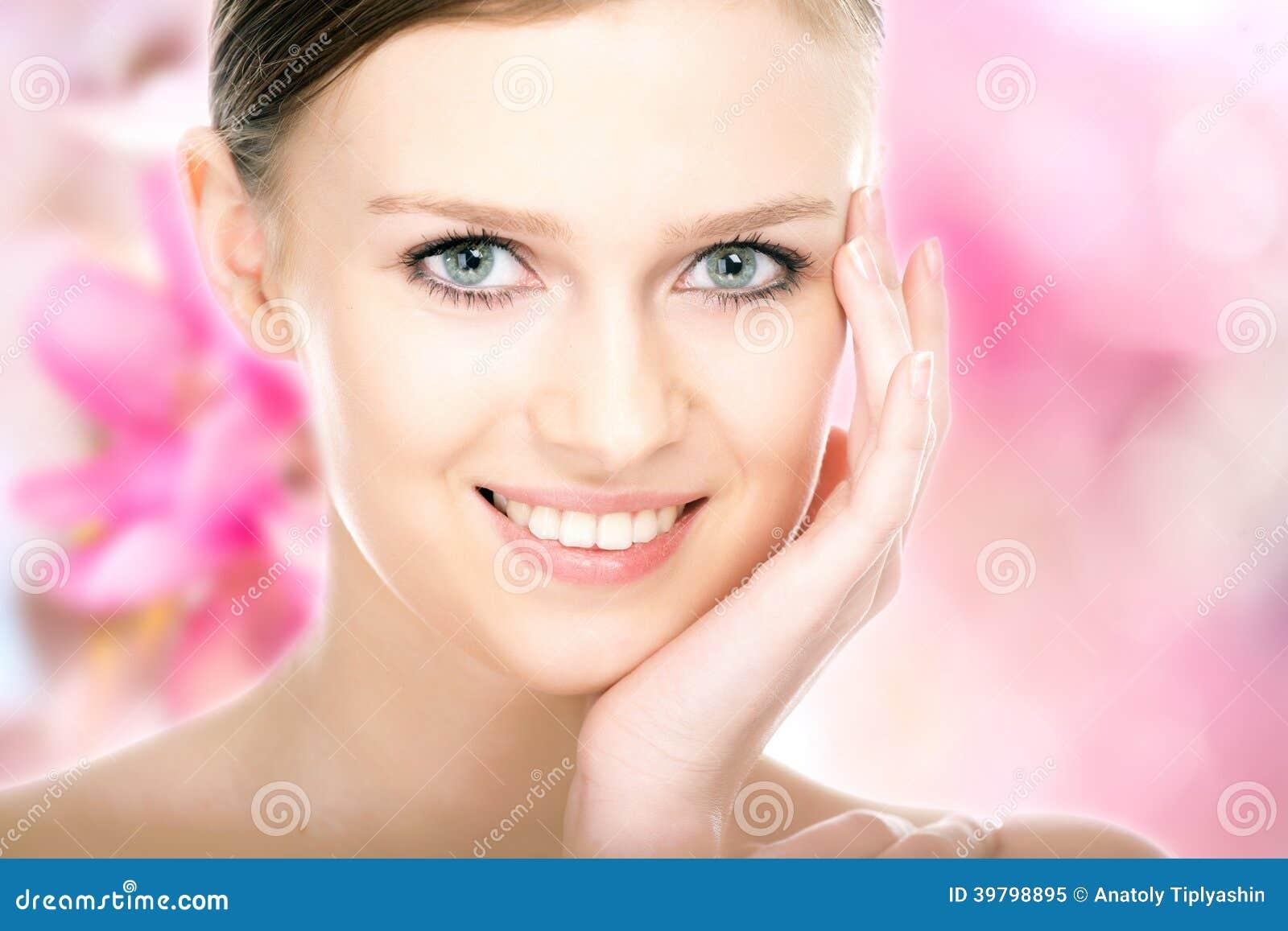 Close-up beauty girl portrait