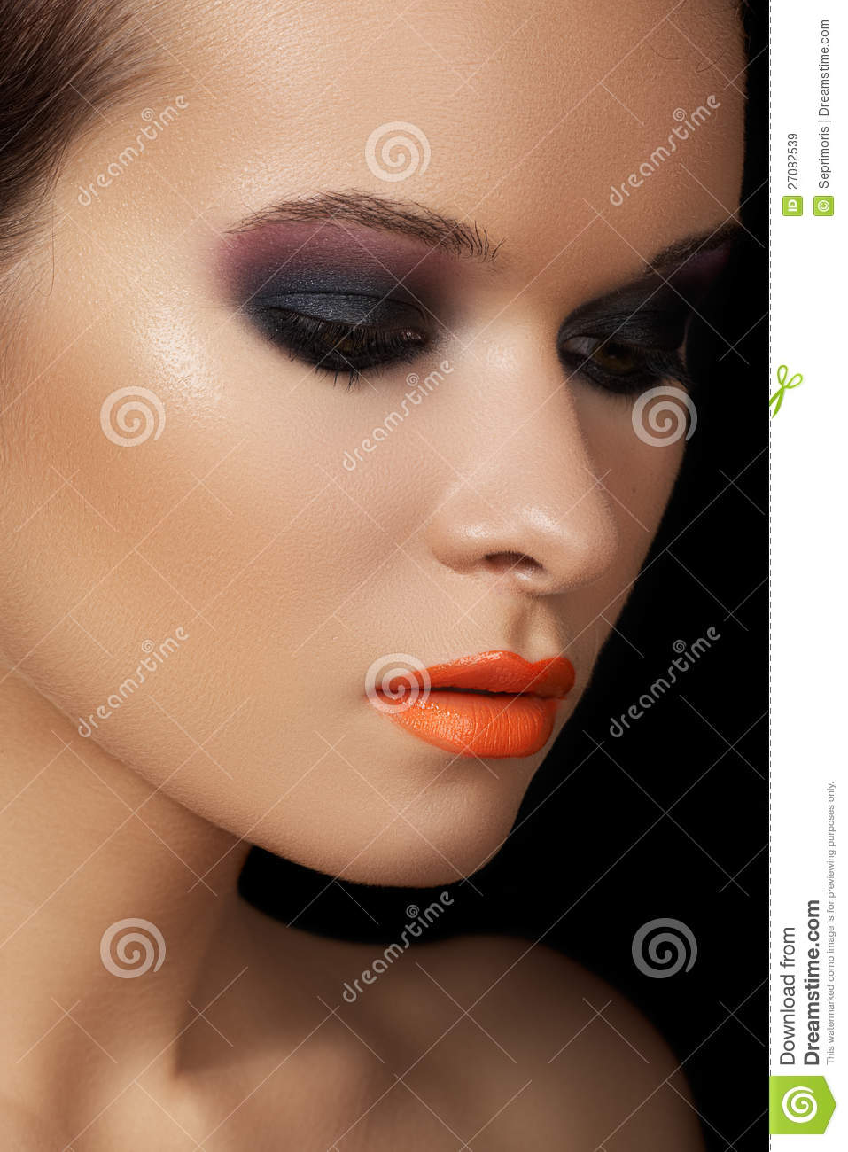 ed83c0c4295 Close-up Beauty Portrait Of Attractive Model Face Stock Image ...