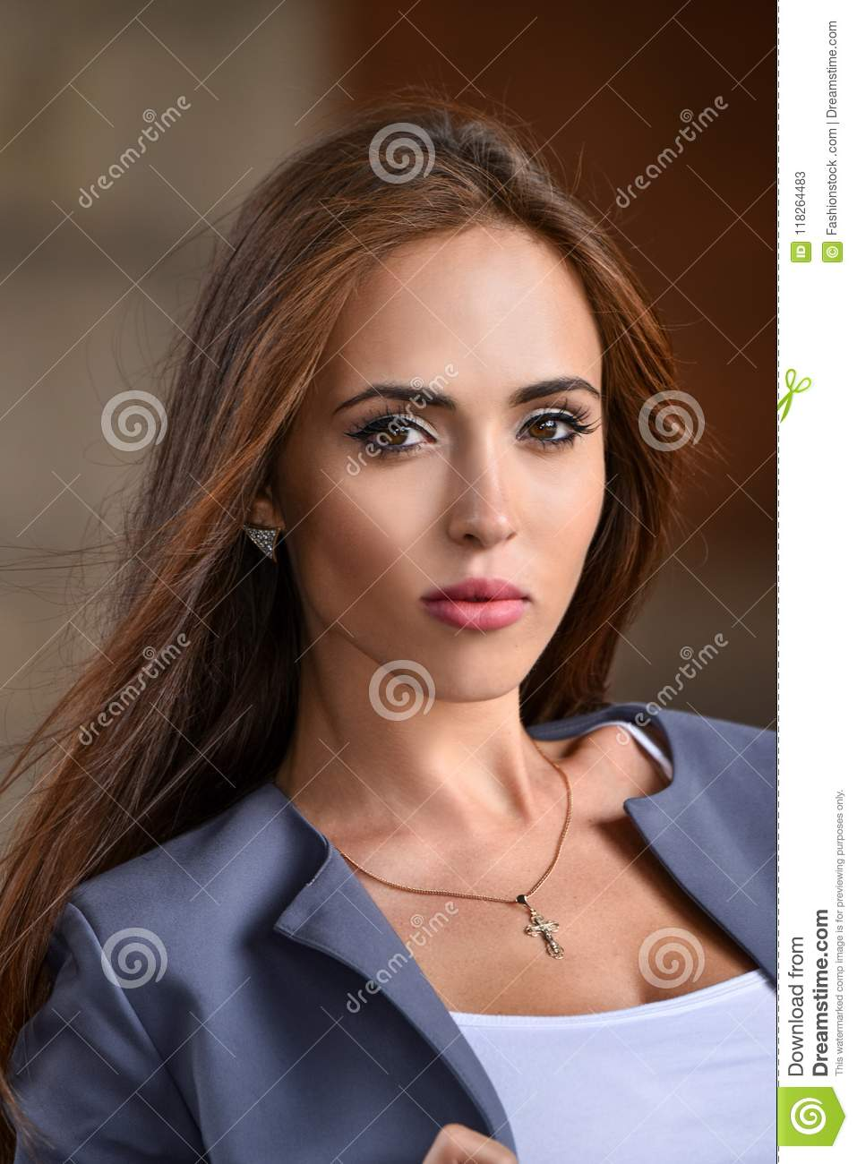 525b682071 Fashion Portrait Of Stunning Young Woman. Stock Image - Image of ...
