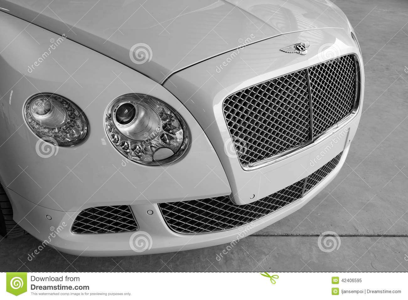 Close Up Of Bentley Car Editorial Image Image Of Brand 42406595
