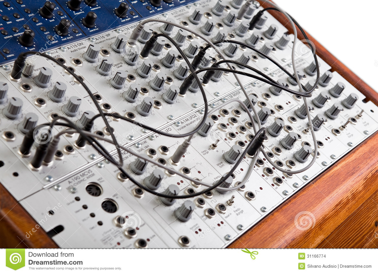 close up of a big modular synthesizer stock images image 31166774. Black Bedroom Furniture Sets. Home Design Ideas