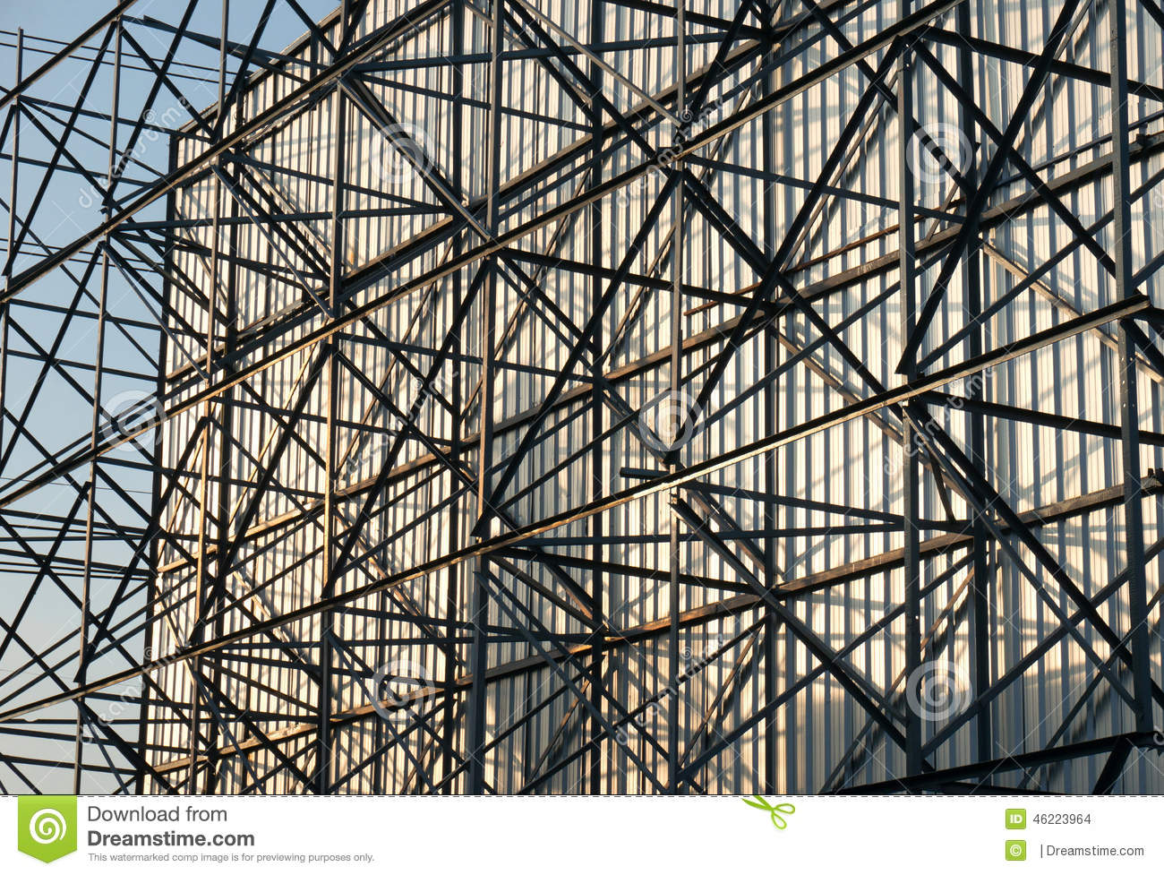 Close up of billboard structure stock photo image 46223964 for Structure photography