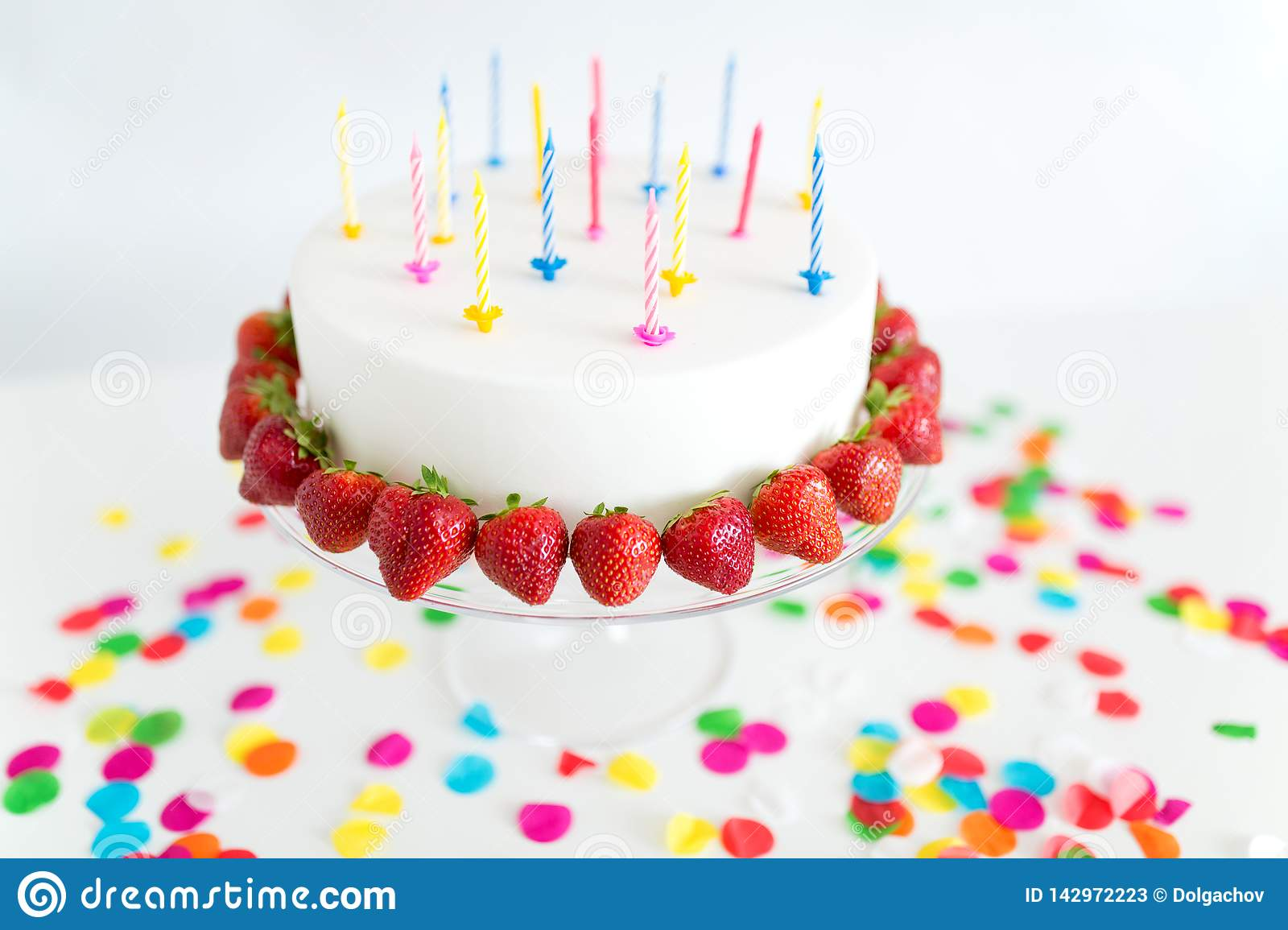 Awesome Close Up Of Birthday Cake With Candles On Stand Stock Image Personalised Birthday Cards Paralily Jamesorg