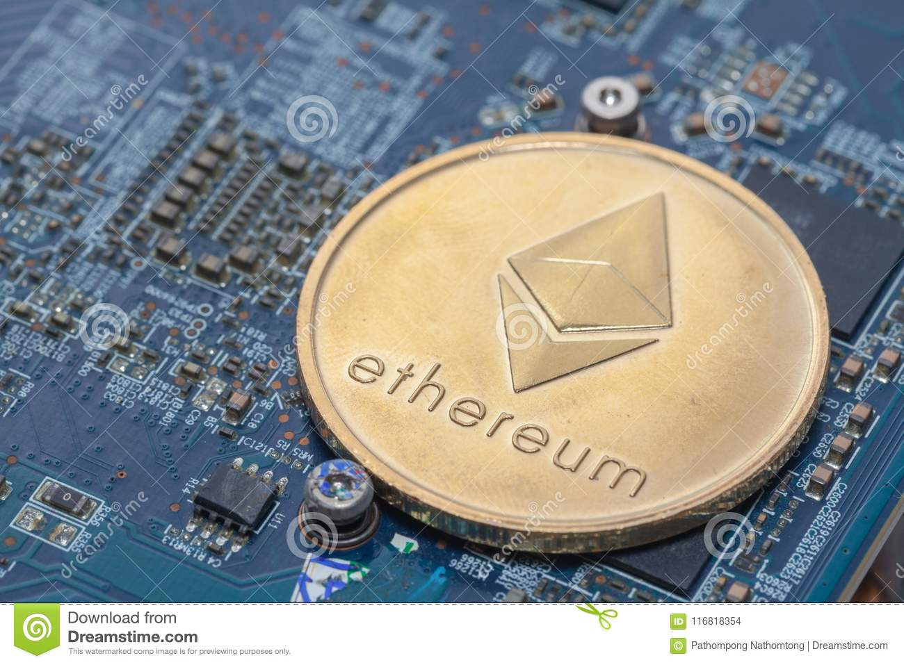 Bitcoin On Printed Circuit Board Stock Photo Image Of Anonymous Pcb The Printedcircuitboard 3d Royalty Free Photography